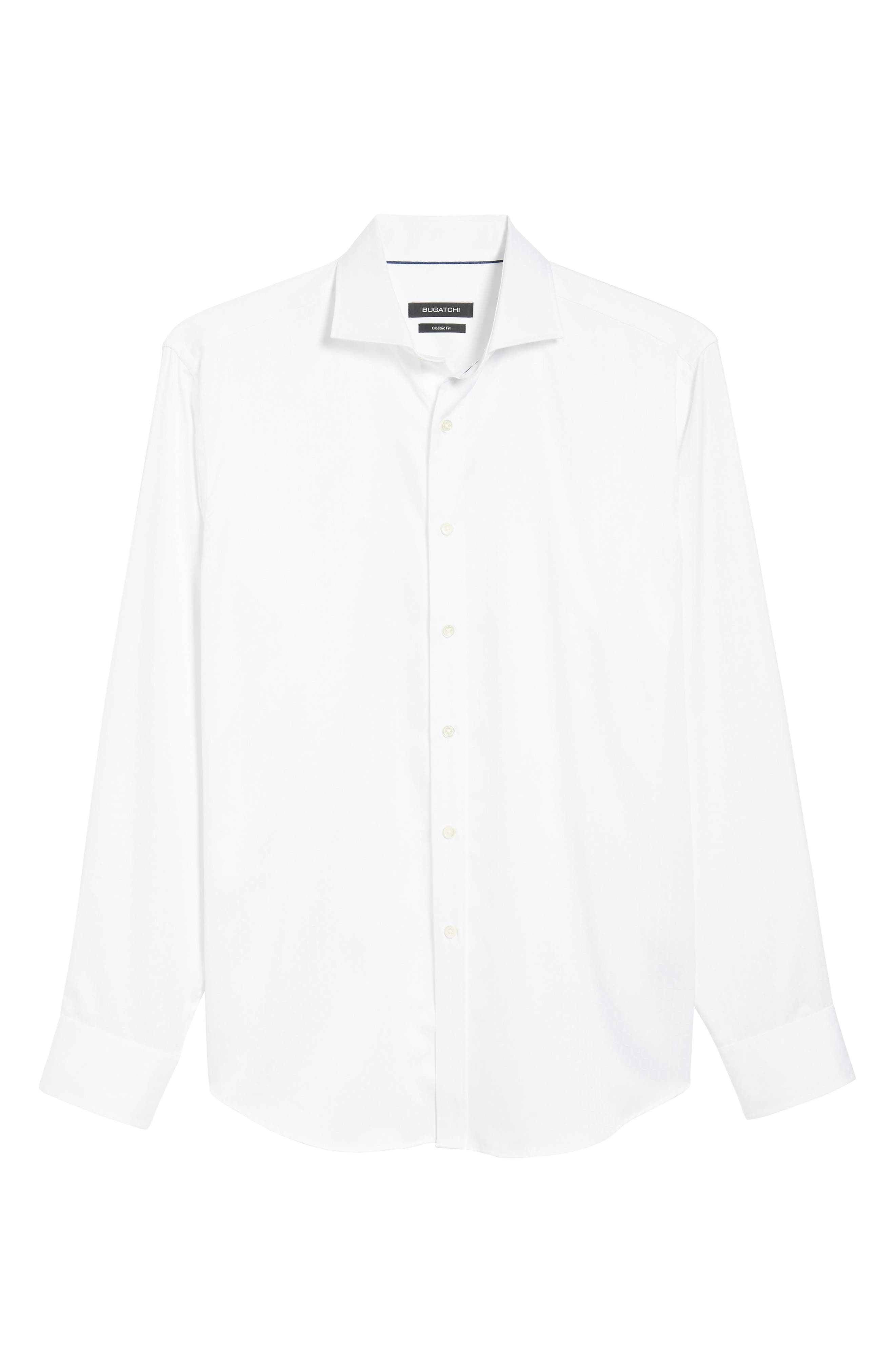 Classic Fit Woven Sport Shirt,                             Alternate thumbnail 6, color,                             WHITE