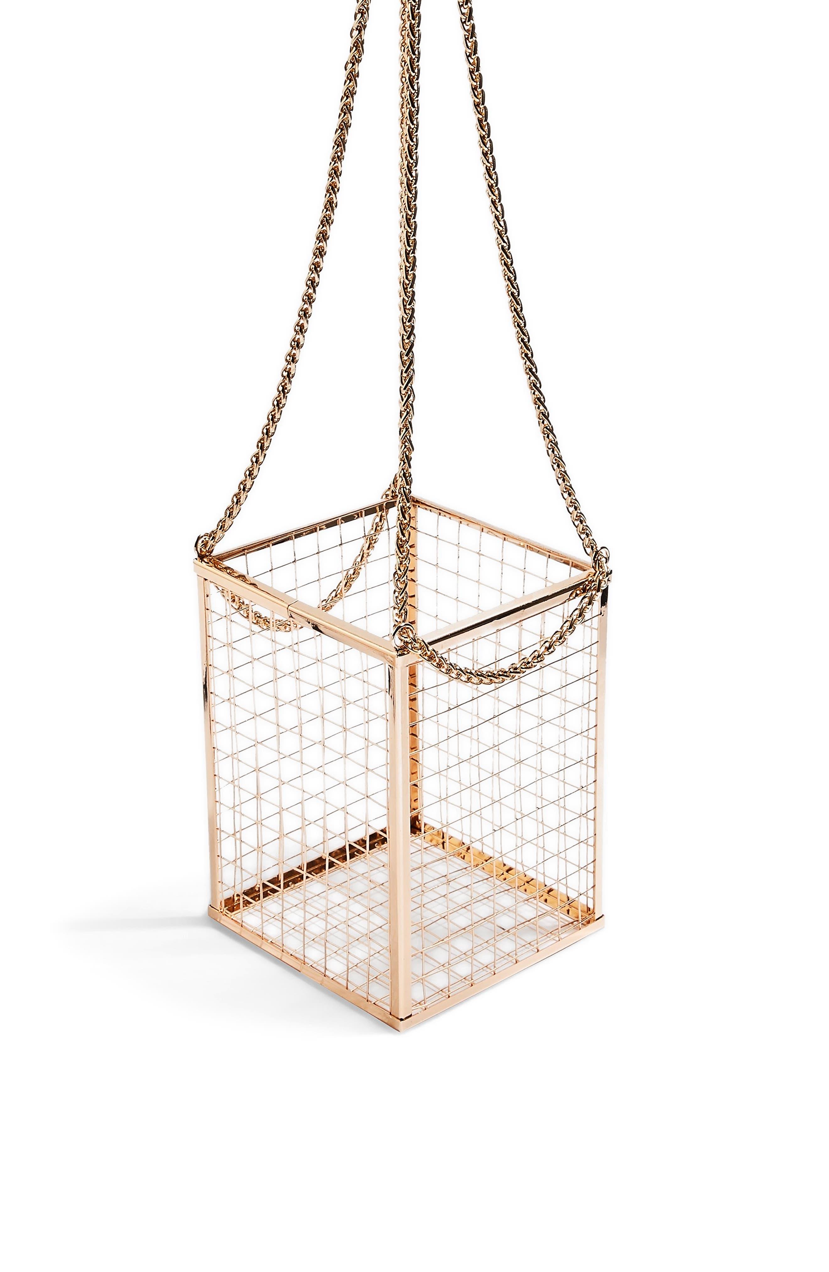 Cara Cage Shoulder Bag,                             Alternate thumbnail 7, color,                             GOLD