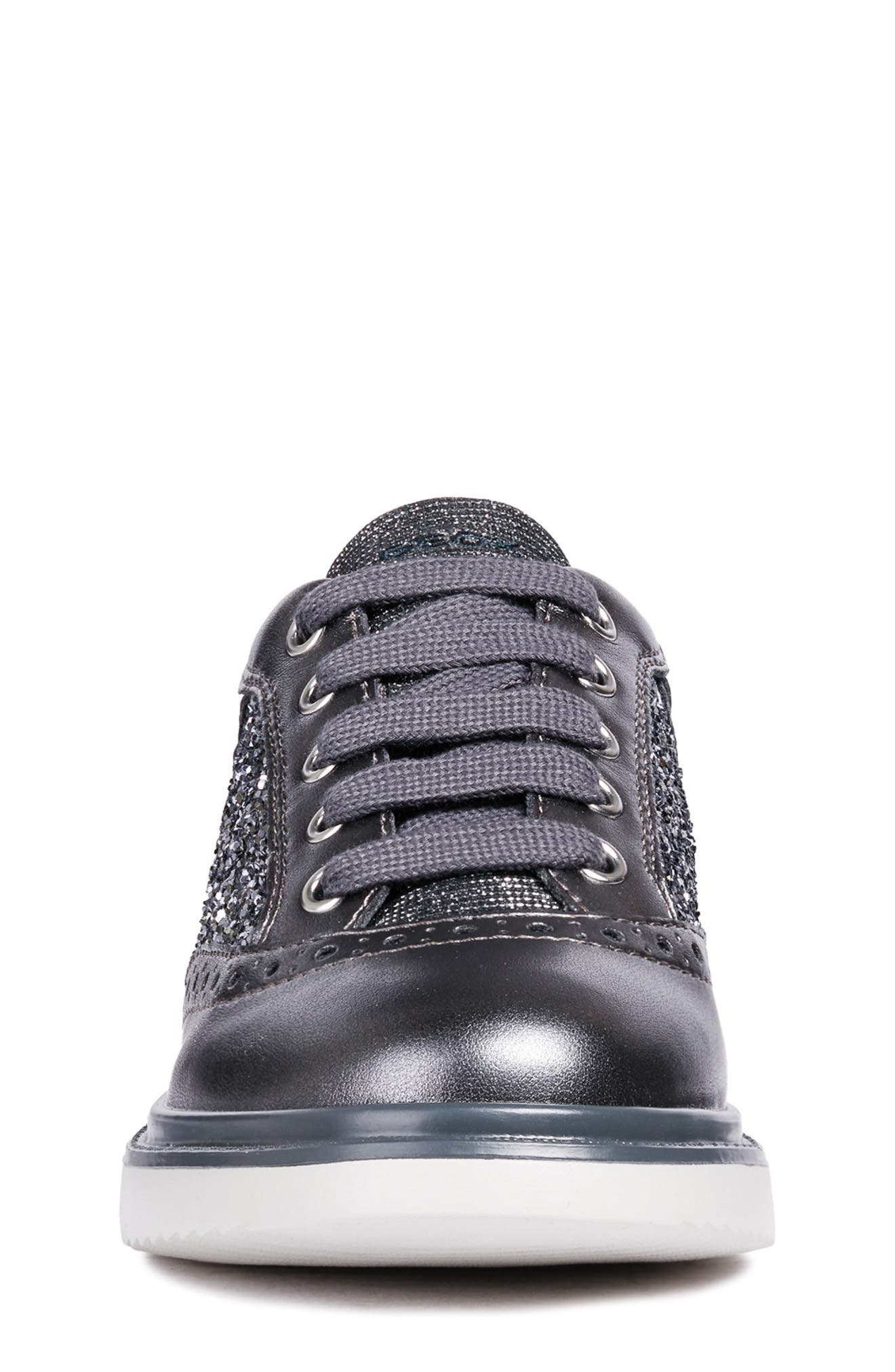 Thymar Sparkle Sneaker,                             Alternate thumbnail 4, color,                             DARK SILVER