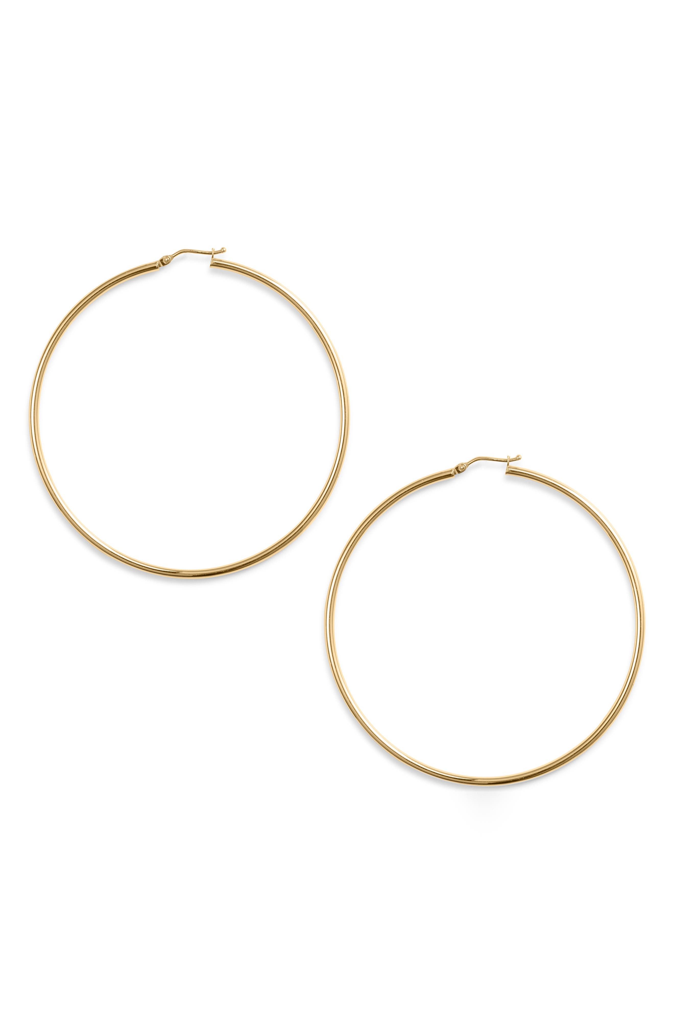 BONY LEVY Extra Large Gold Hoop Earrings, Main, color, YELLOW GOLD