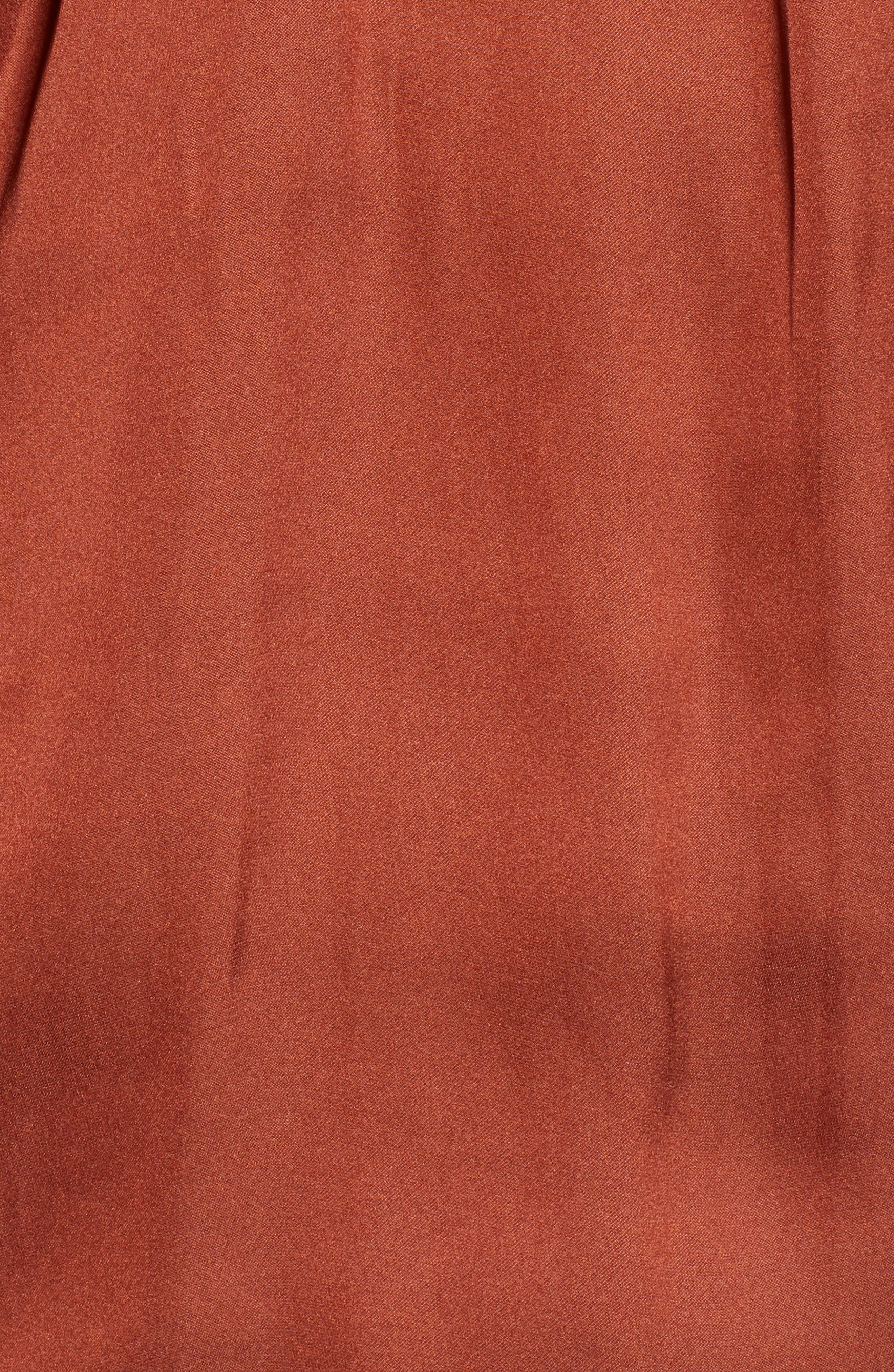 Twist Front Top,                             Alternate thumbnail 5, color,                             RED OCHRE