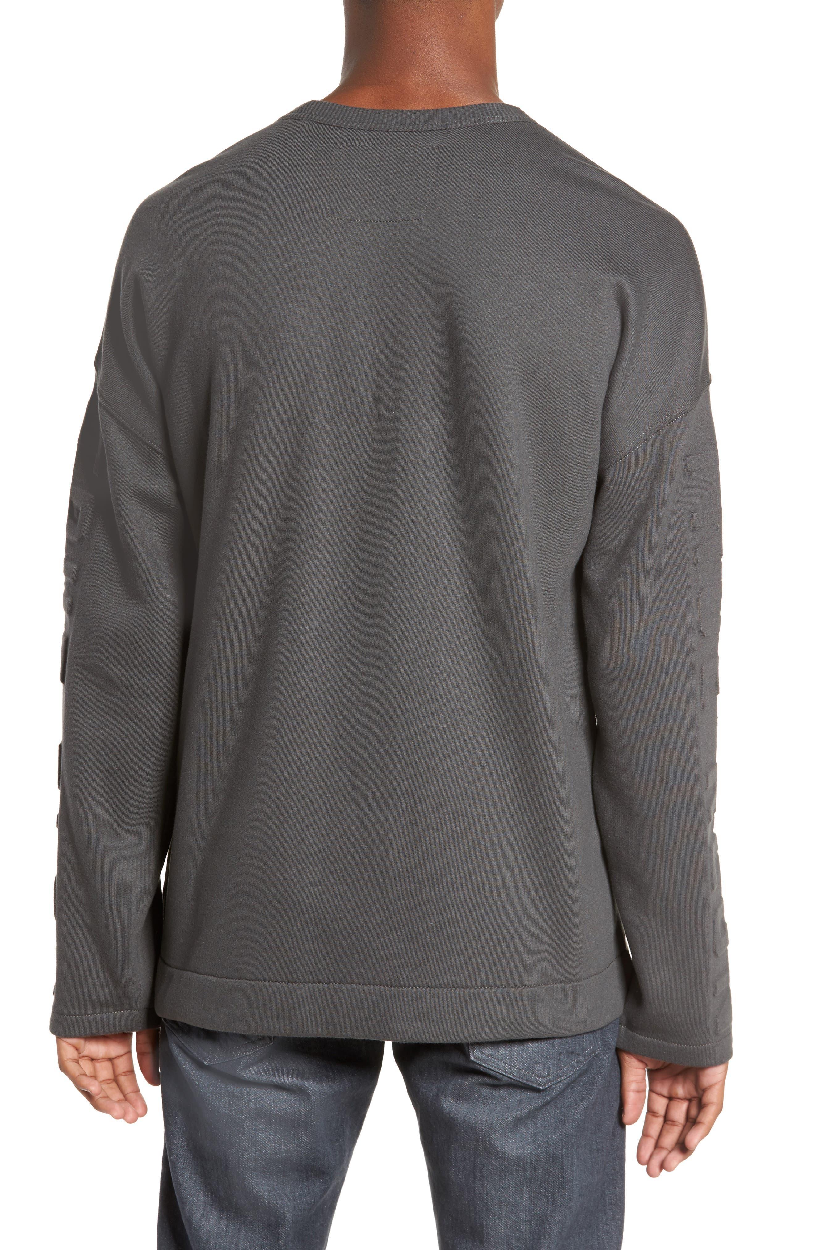 Oversize Fleece Sweatshirt,                             Alternate thumbnail 2, color,                             020