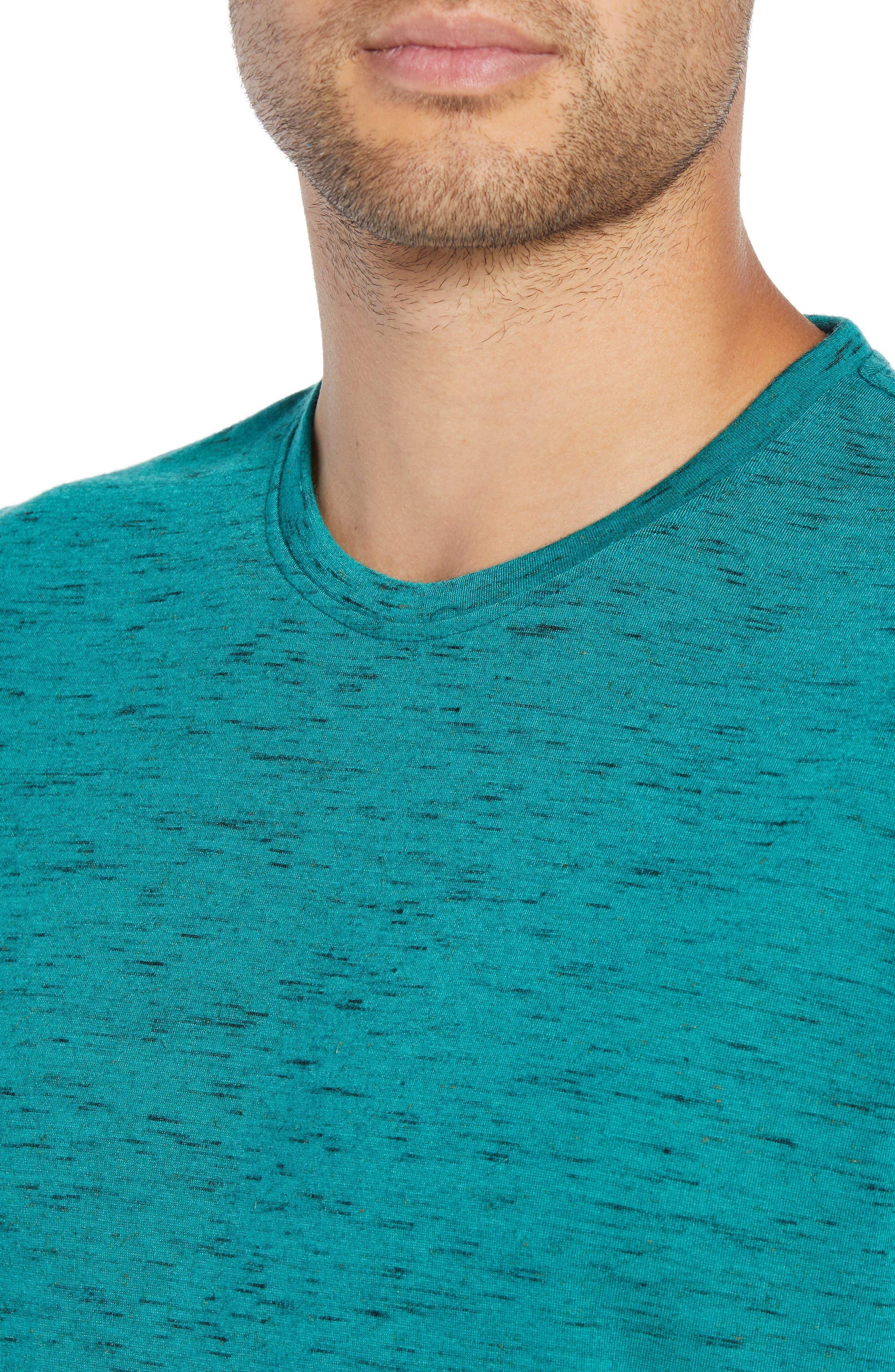 Streaky T-Shirt,                             Alternate thumbnail 4, color,                             TEAL GREEN- BLACK
