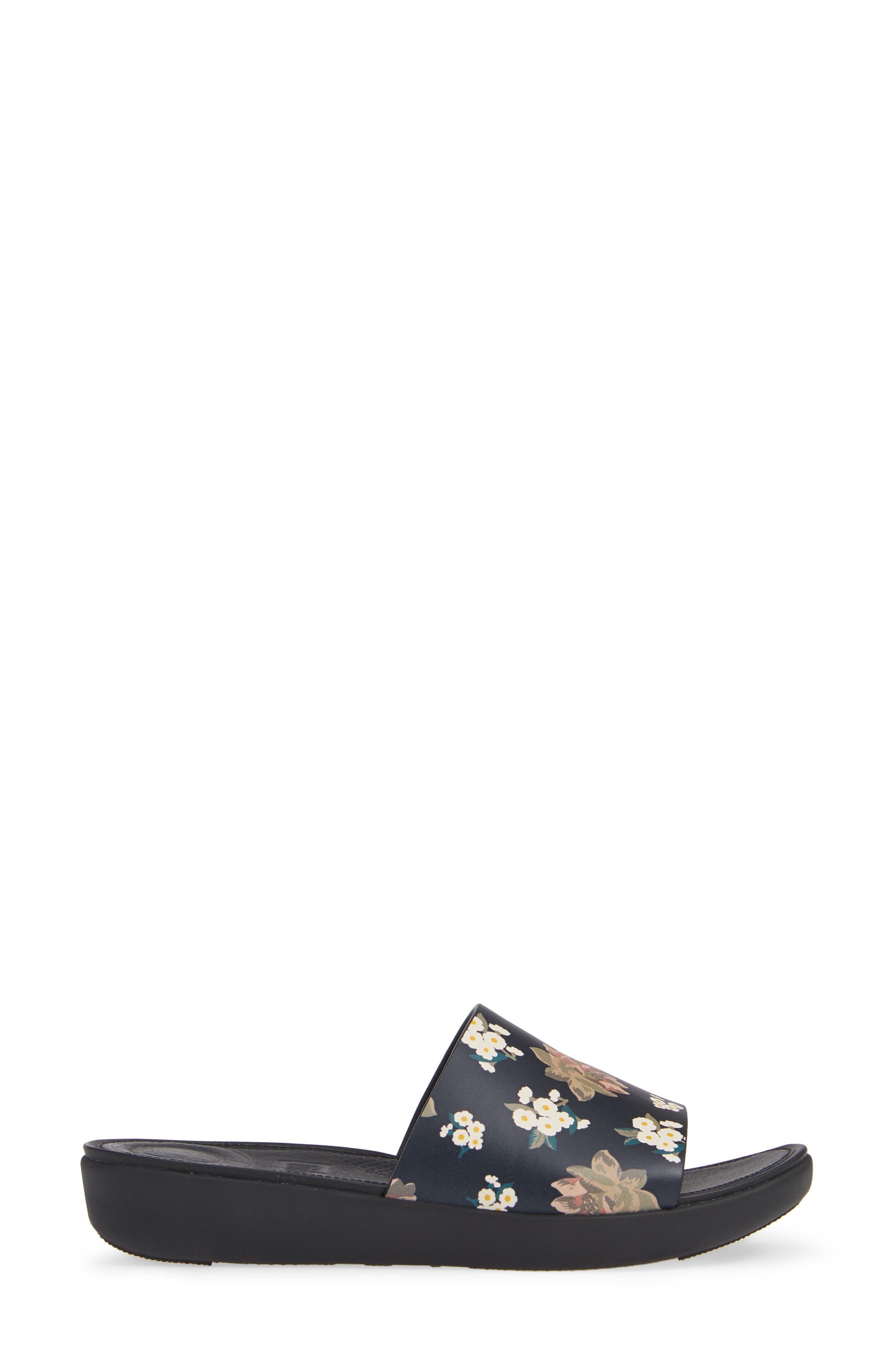 FITFLOP,                             Sola Floral Slide Sandal,                             Alternate thumbnail 3, color,                             001