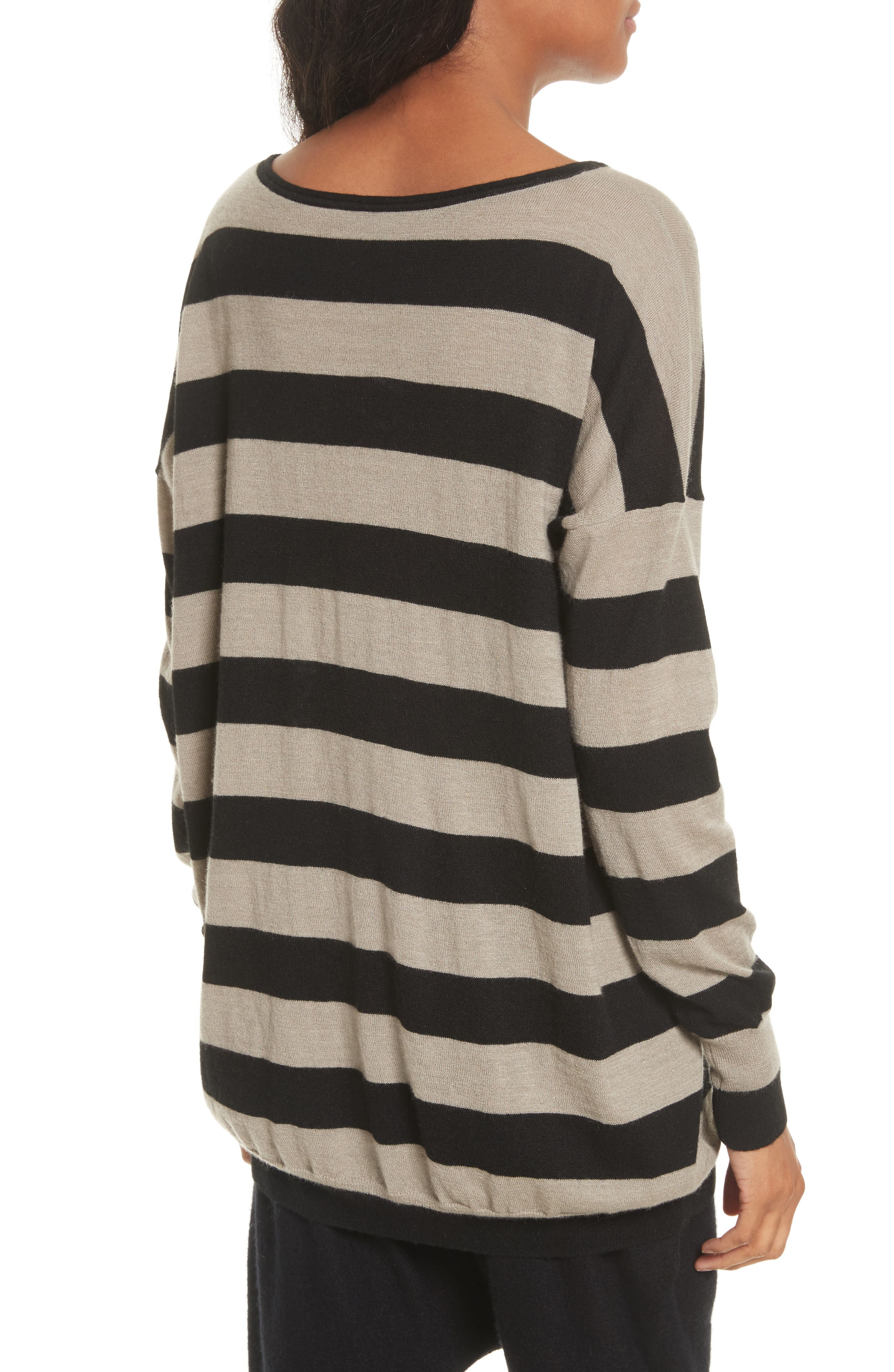 Wide Stripe Wool & Cashmere Sweater,                             Alternate thumbnail 2, color,                             260