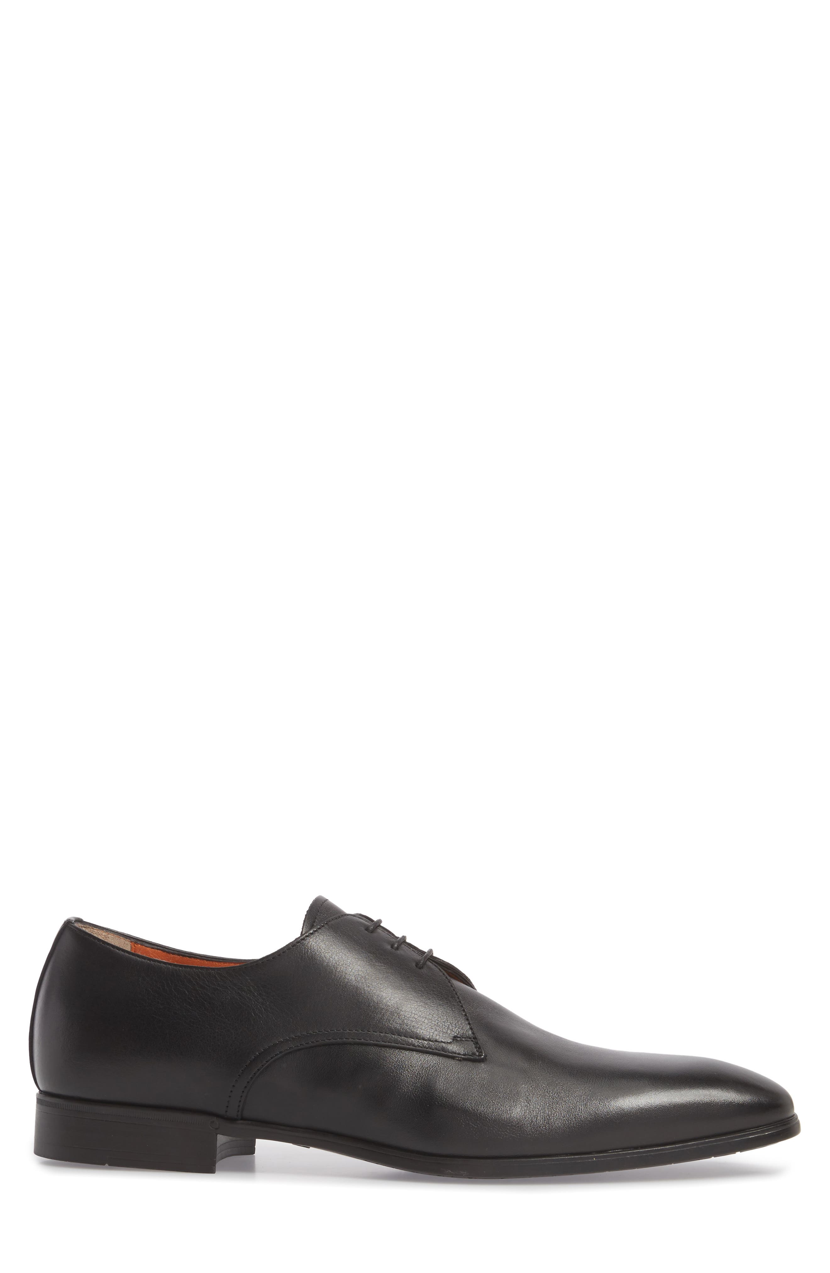 SANTONI,                             Glenn Plain Toe Derby,                             Alternate thumbnail 3, color,                             001