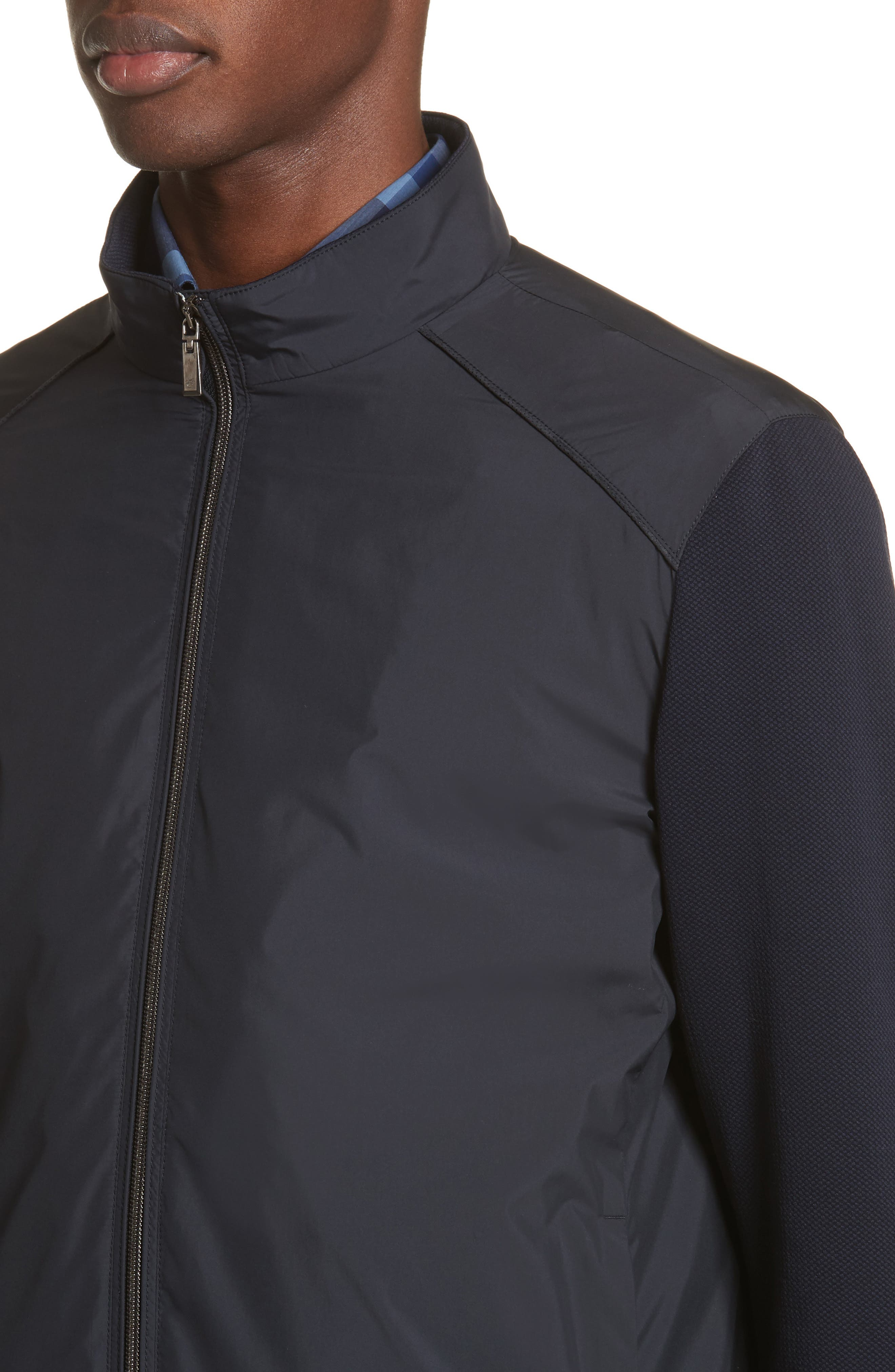Water Repellent Microfiber Jacket,                             Alternate thumbnail 4, color,