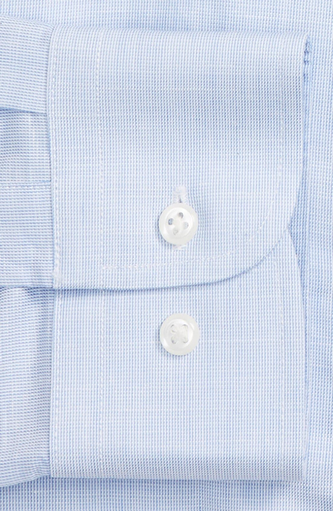 Trim Fit Solid Linen & Cotton Dress Shirt,                             Alternate thumbnail 34, color,