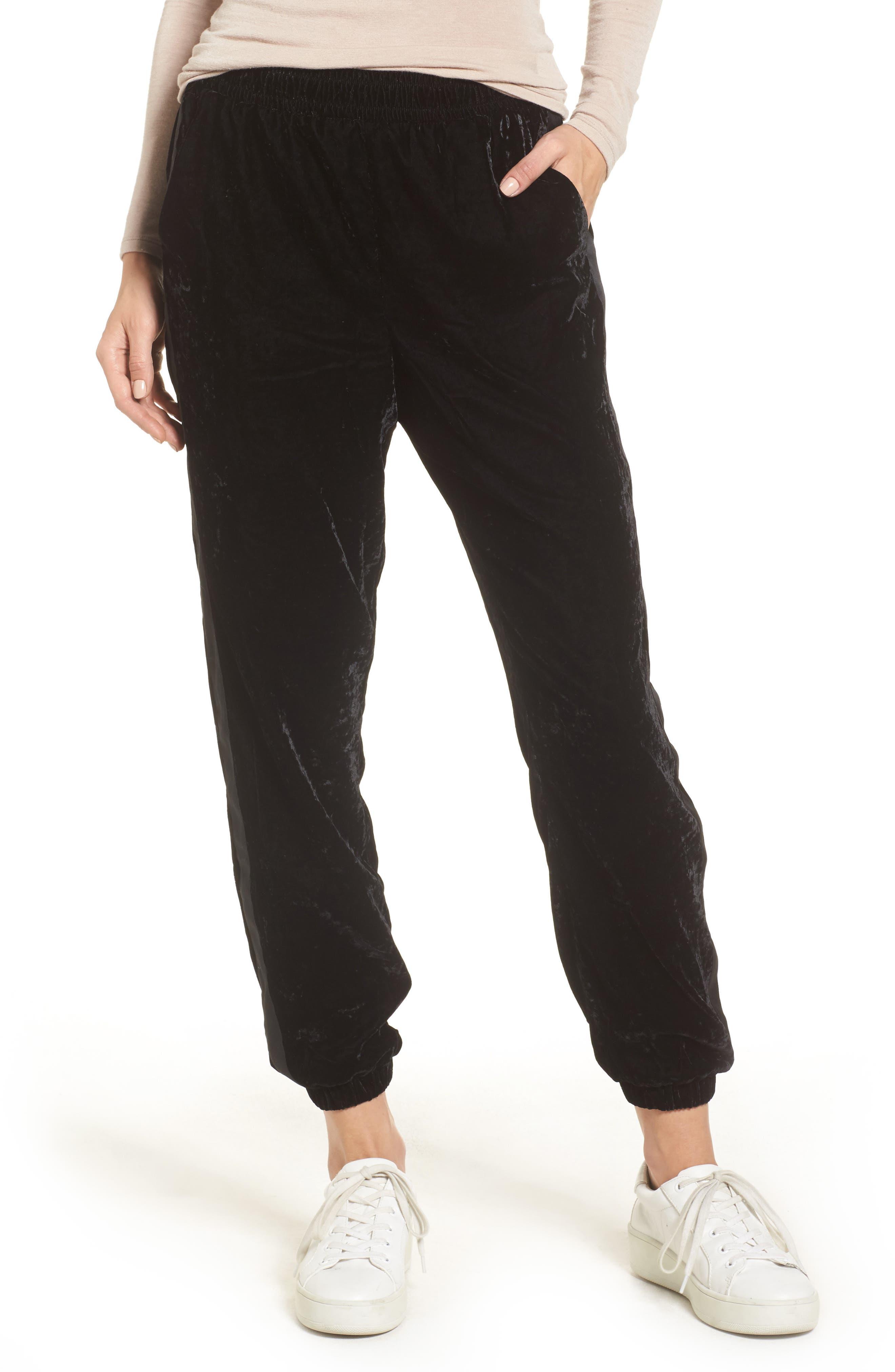 Velvet Jogger Pants,                         Main,                         color, 001