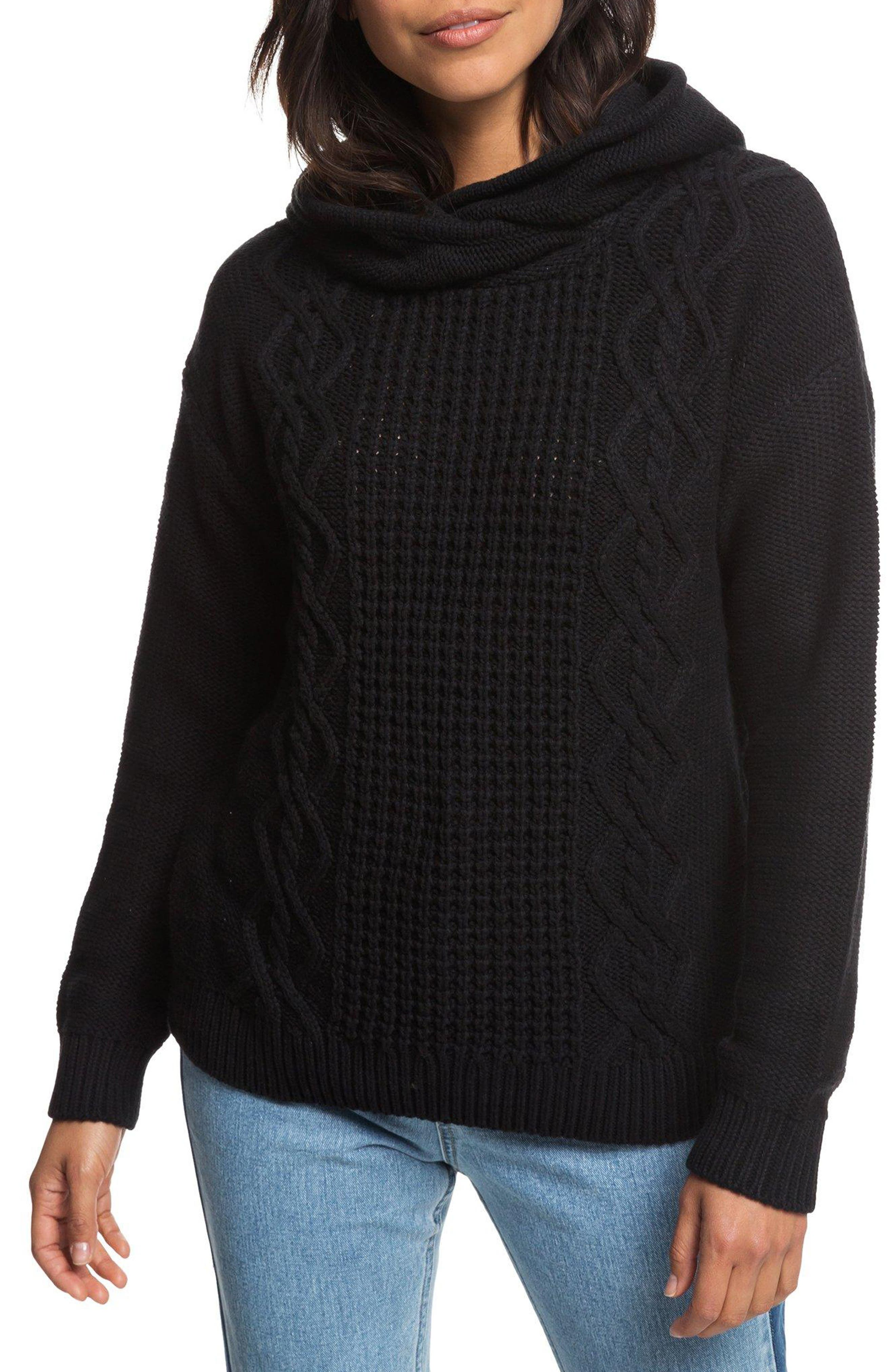 Off to Dinner Hooded Sweater,                         Main,                         color, 001