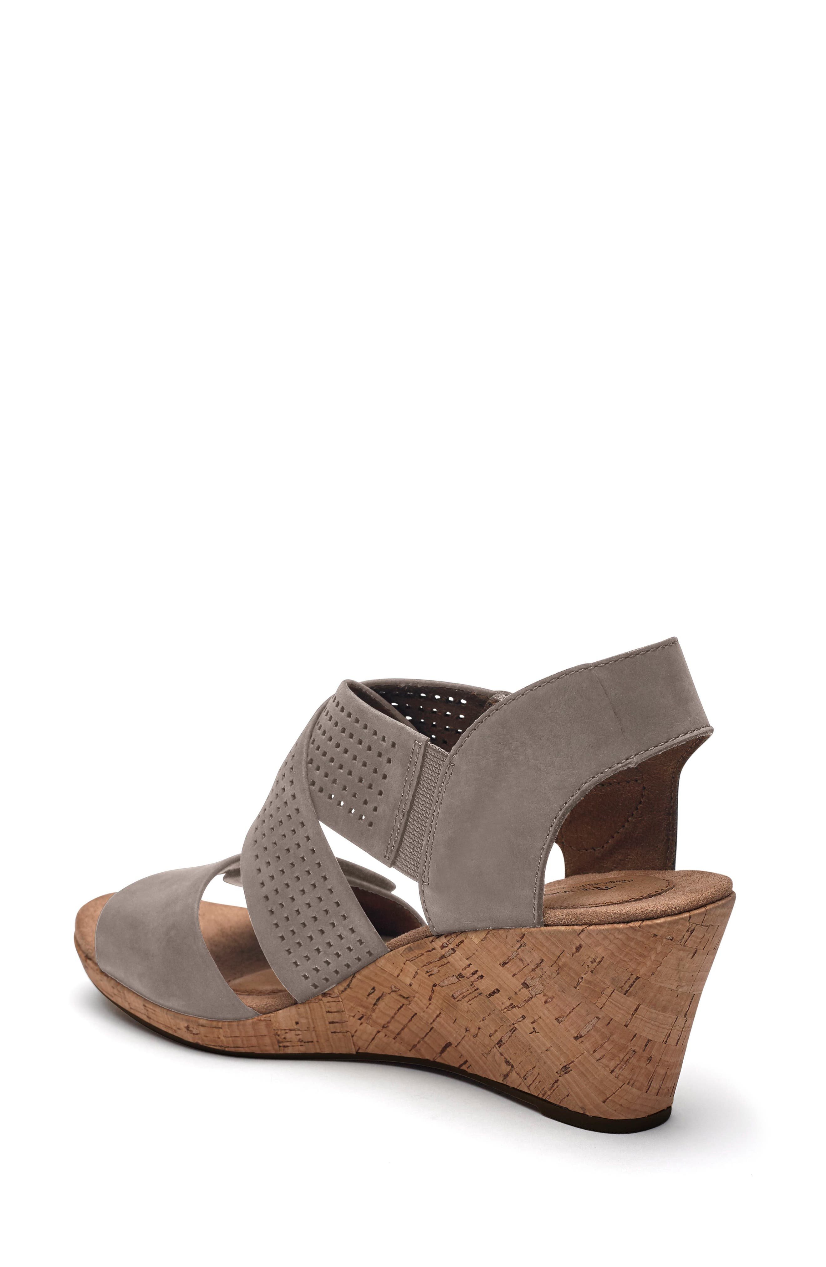 Janna Cross Strap Wedge Sandal,                             Alternate thumbnail 8, color,