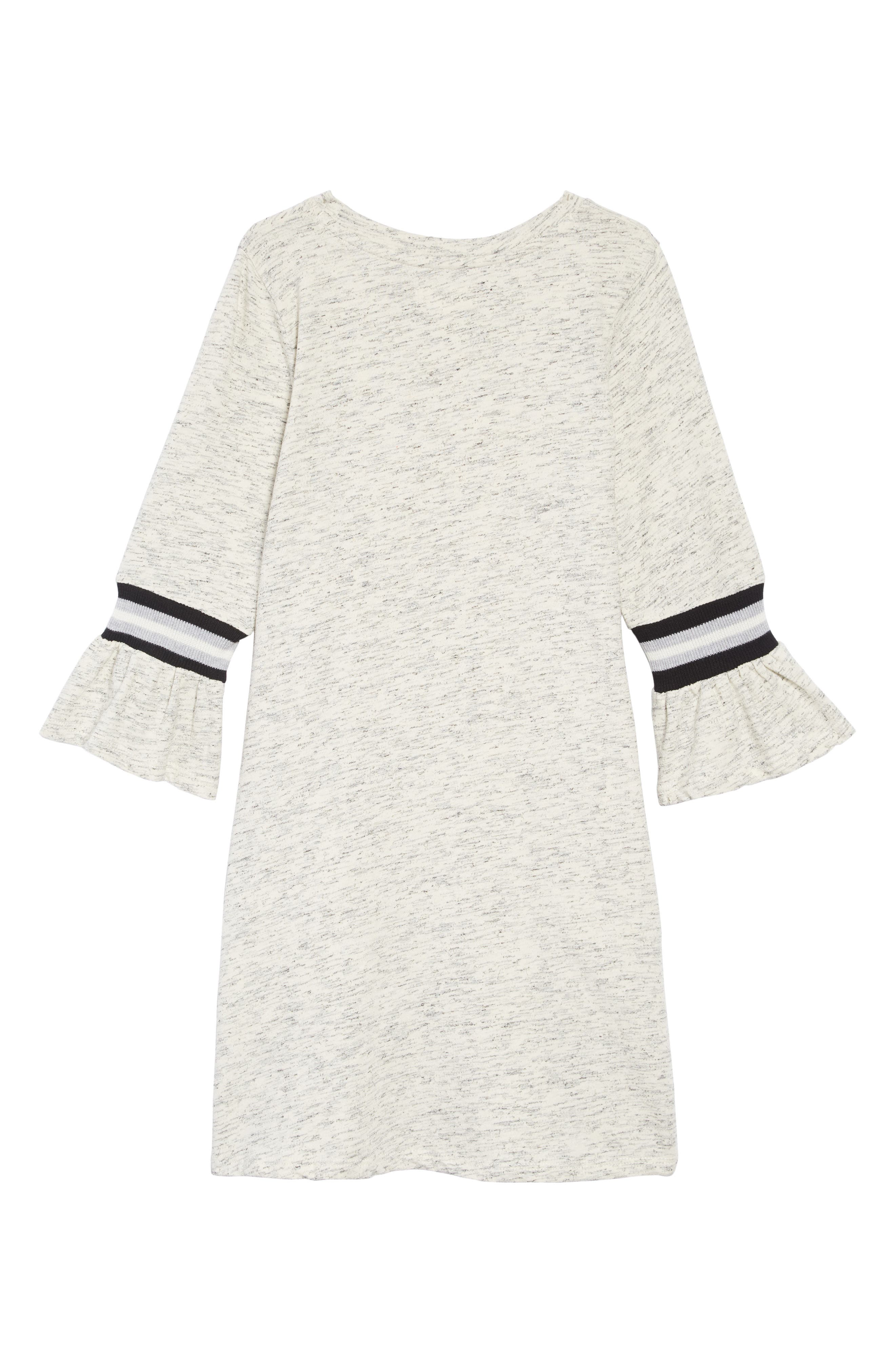 Varsity Ruffle Sleeve Dress,                             Alternate thumbnail 2, color,                             GREY