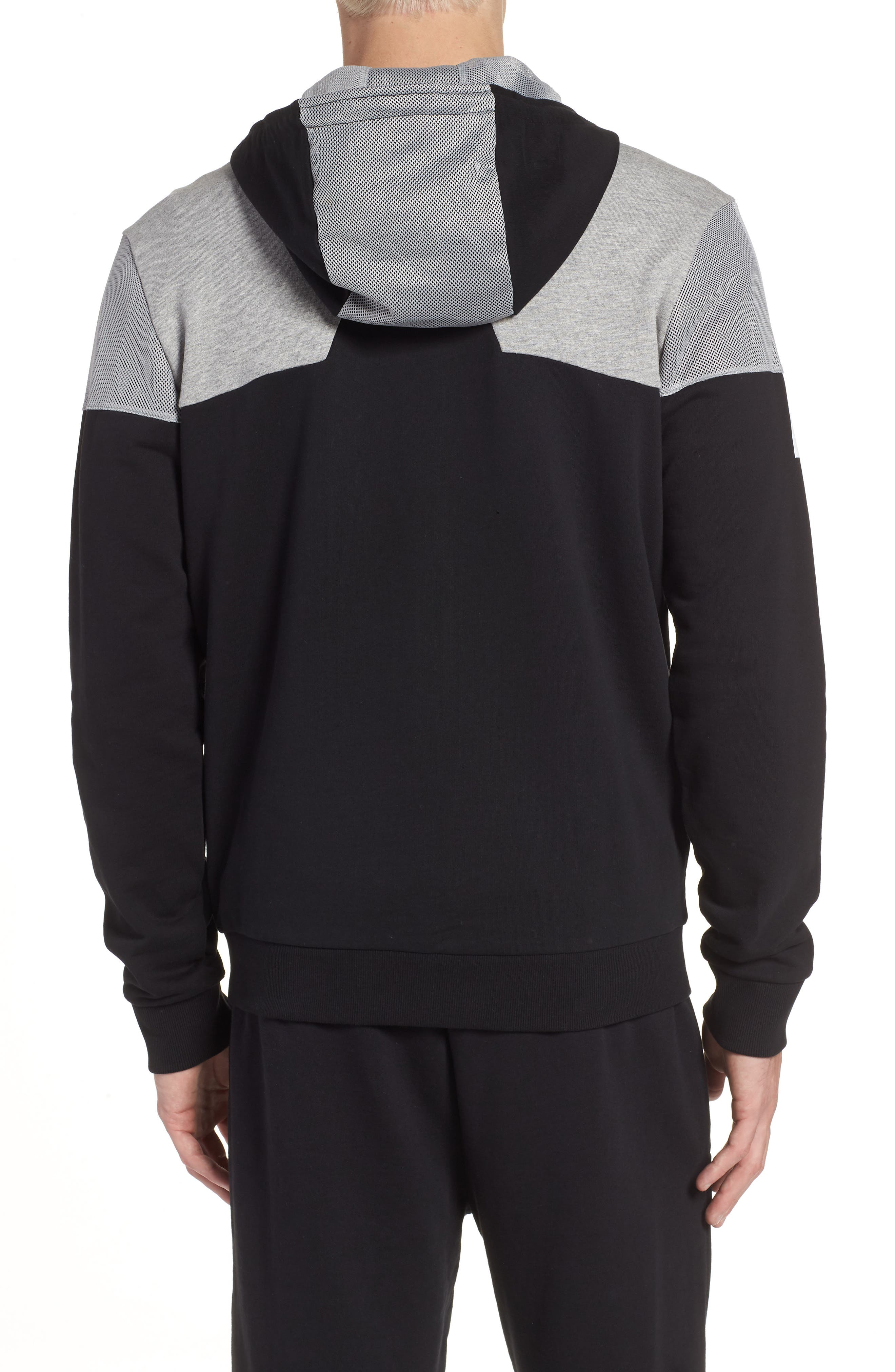 Regular Fit Hooded Fleece Jacket,                             Alternate thumbnail 2, color,                             001