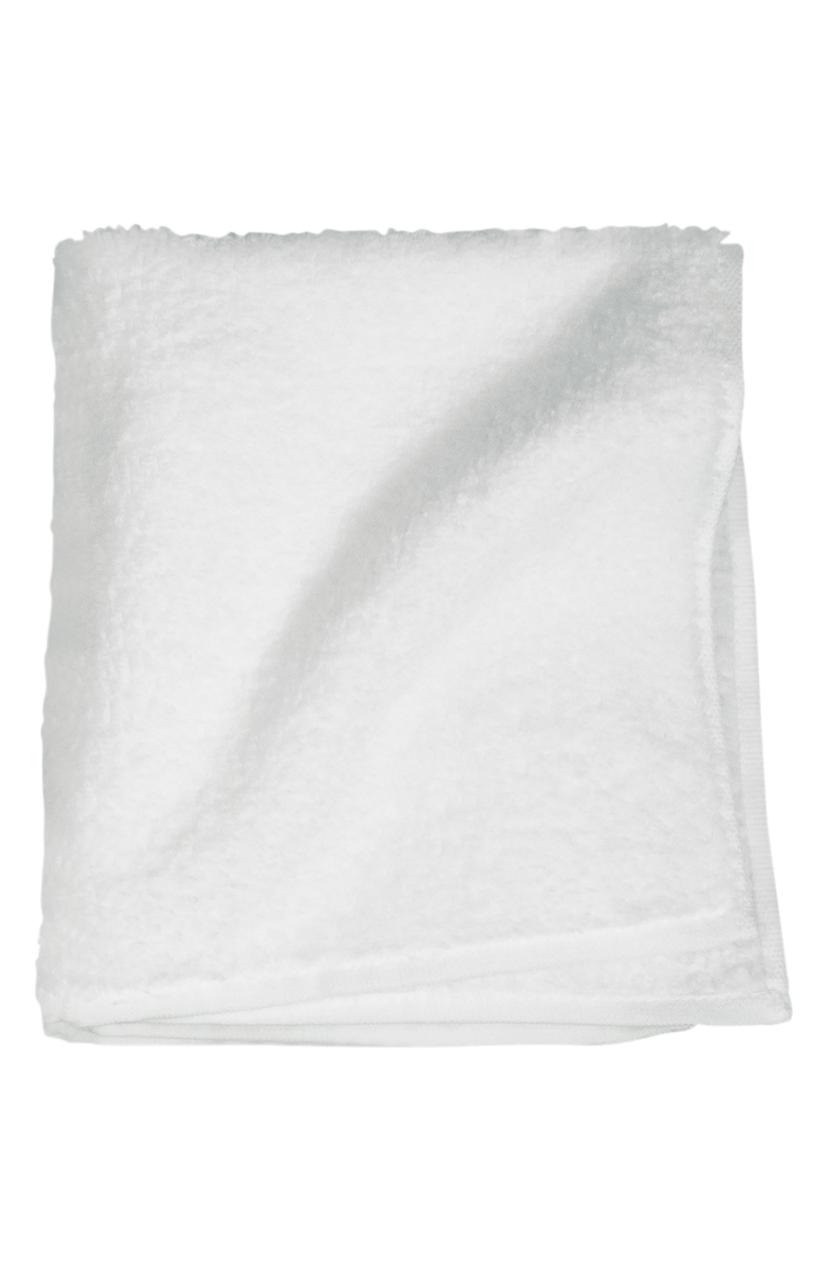 Zero Twist Washcloth,                         Main,                         color, WHITE