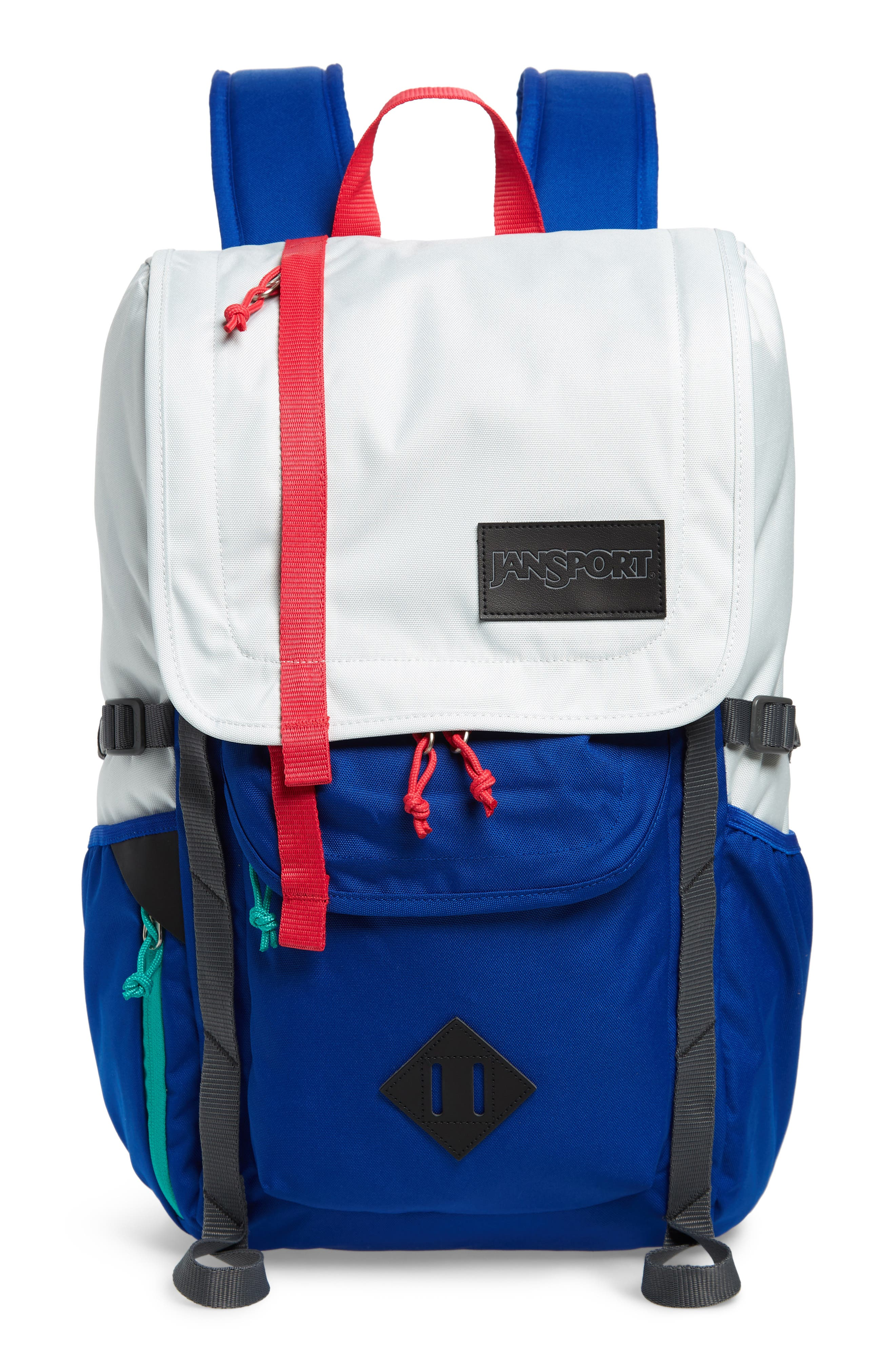 JANSPORT 'Hatchet' Backpack in Goose Grey/ Regal Blue