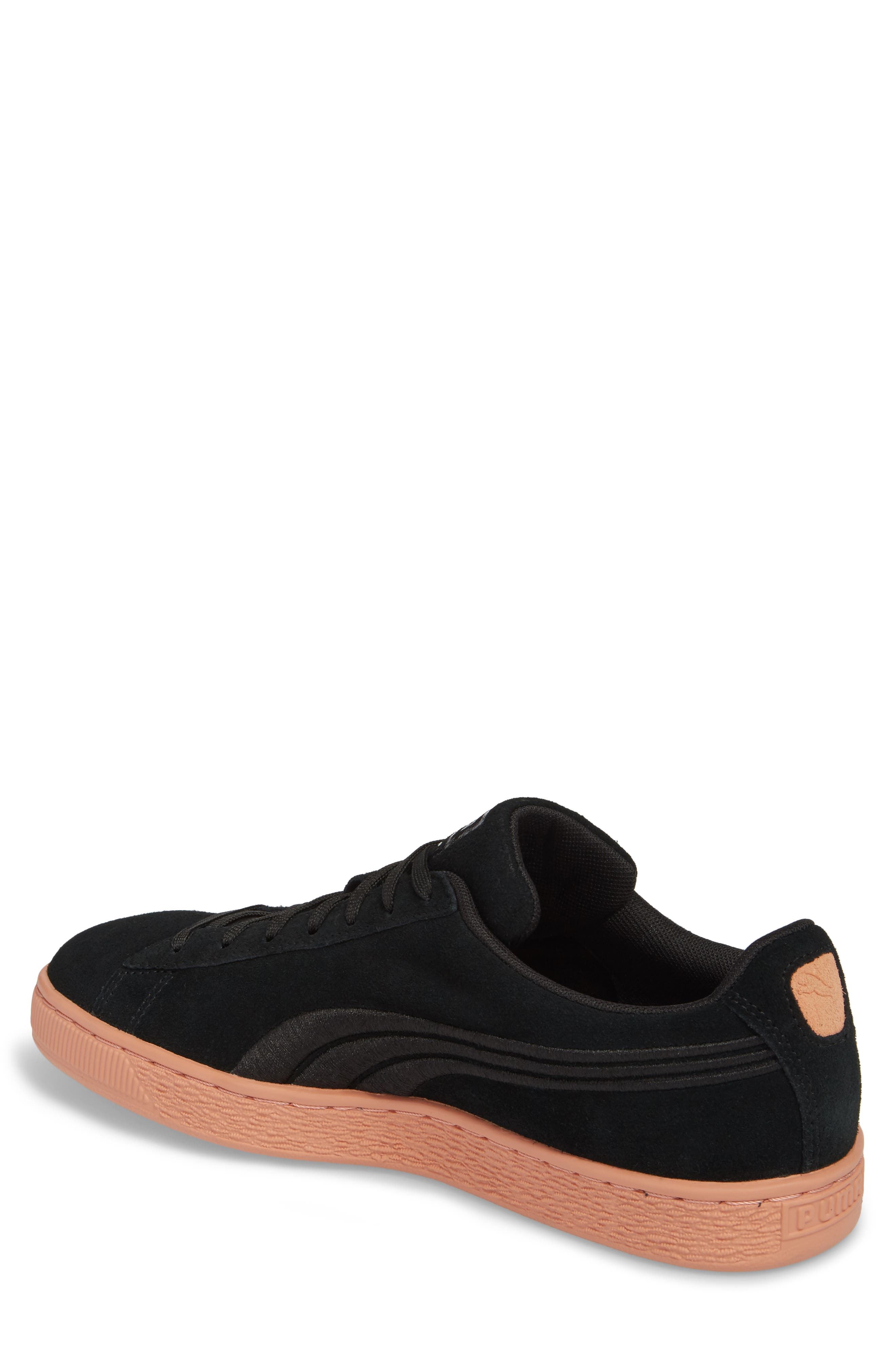 Suede Classic Bade Sneaker,                             Alternate thumbnail 2, color,                             001
