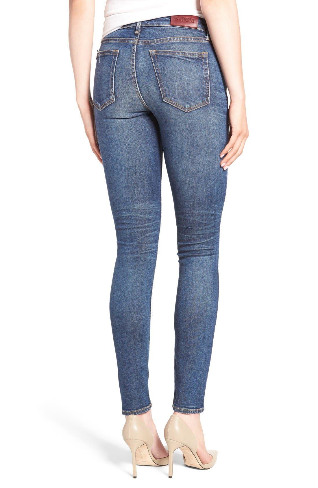 STROM,                             'Tio' Ankle Skinny Jeans,                             Alternate thumbnail 2, color,                             420
