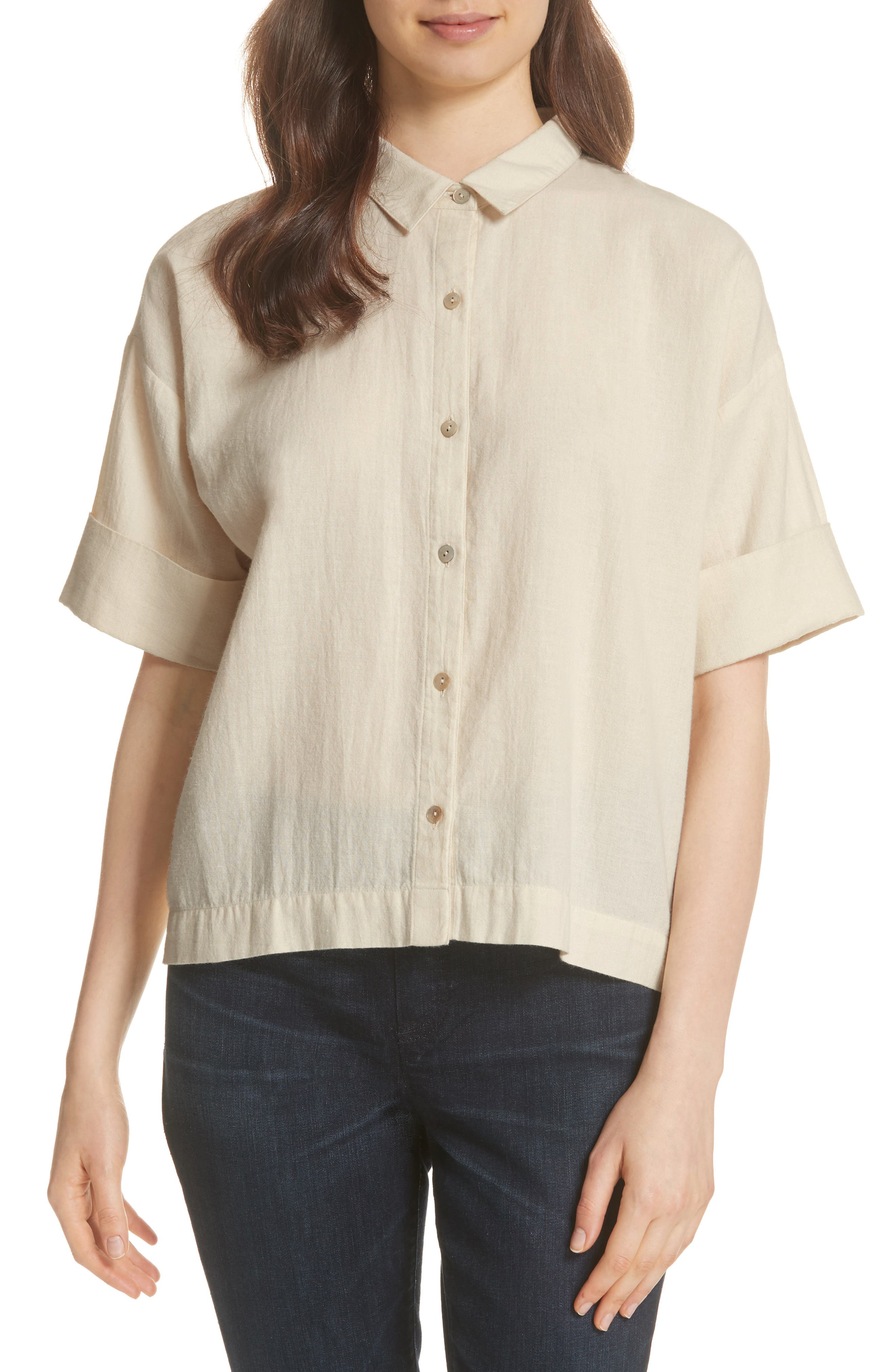 Classic Boxy Shirt,                         Main,                         color,