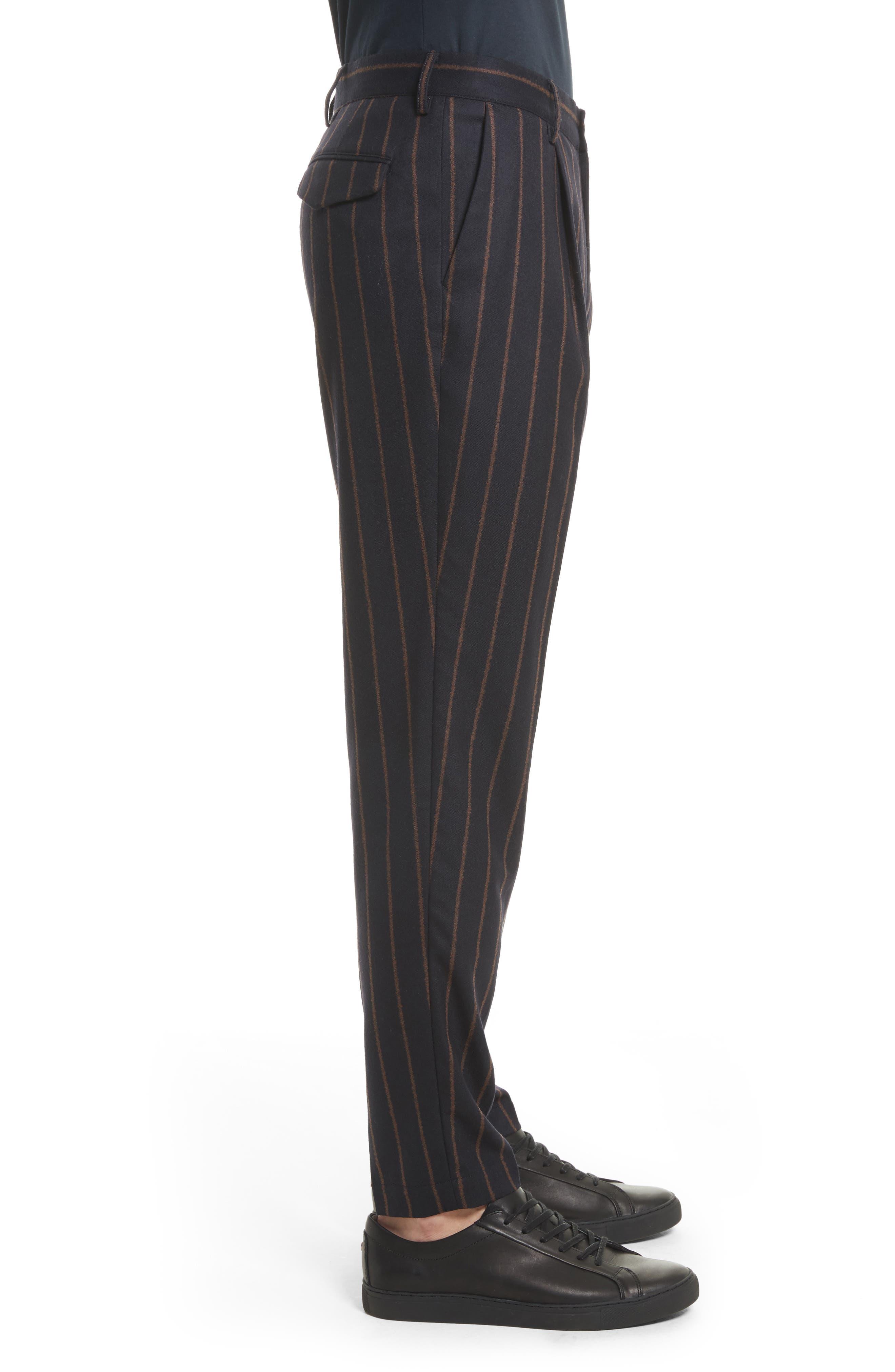 Bouclé Stripe Flannel Pants,                             Alternate thumbnail 3, color,                             400