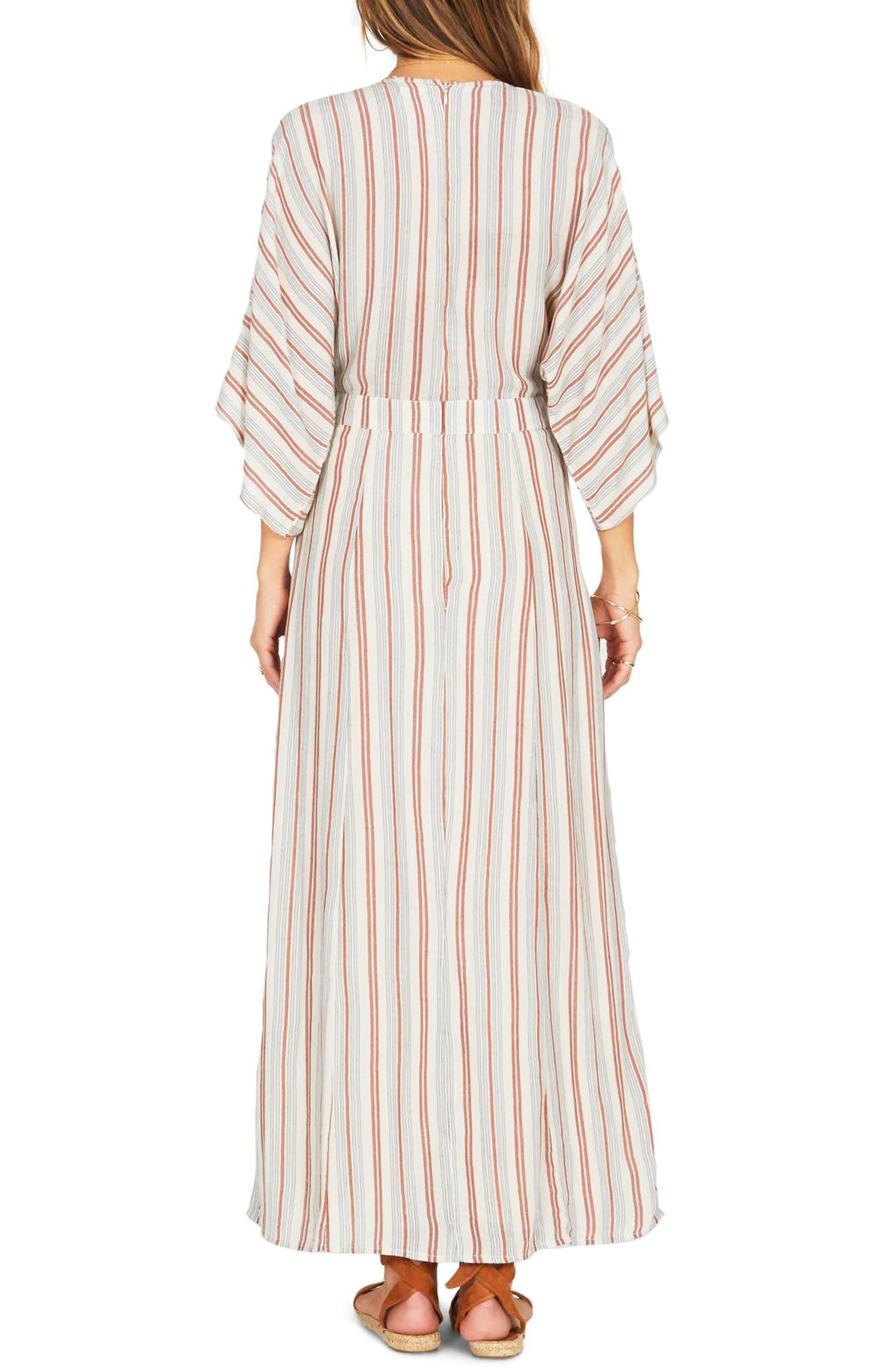 Forever & Day Stripe Maxi Dress,                             Alternate thumbnail 4, color,