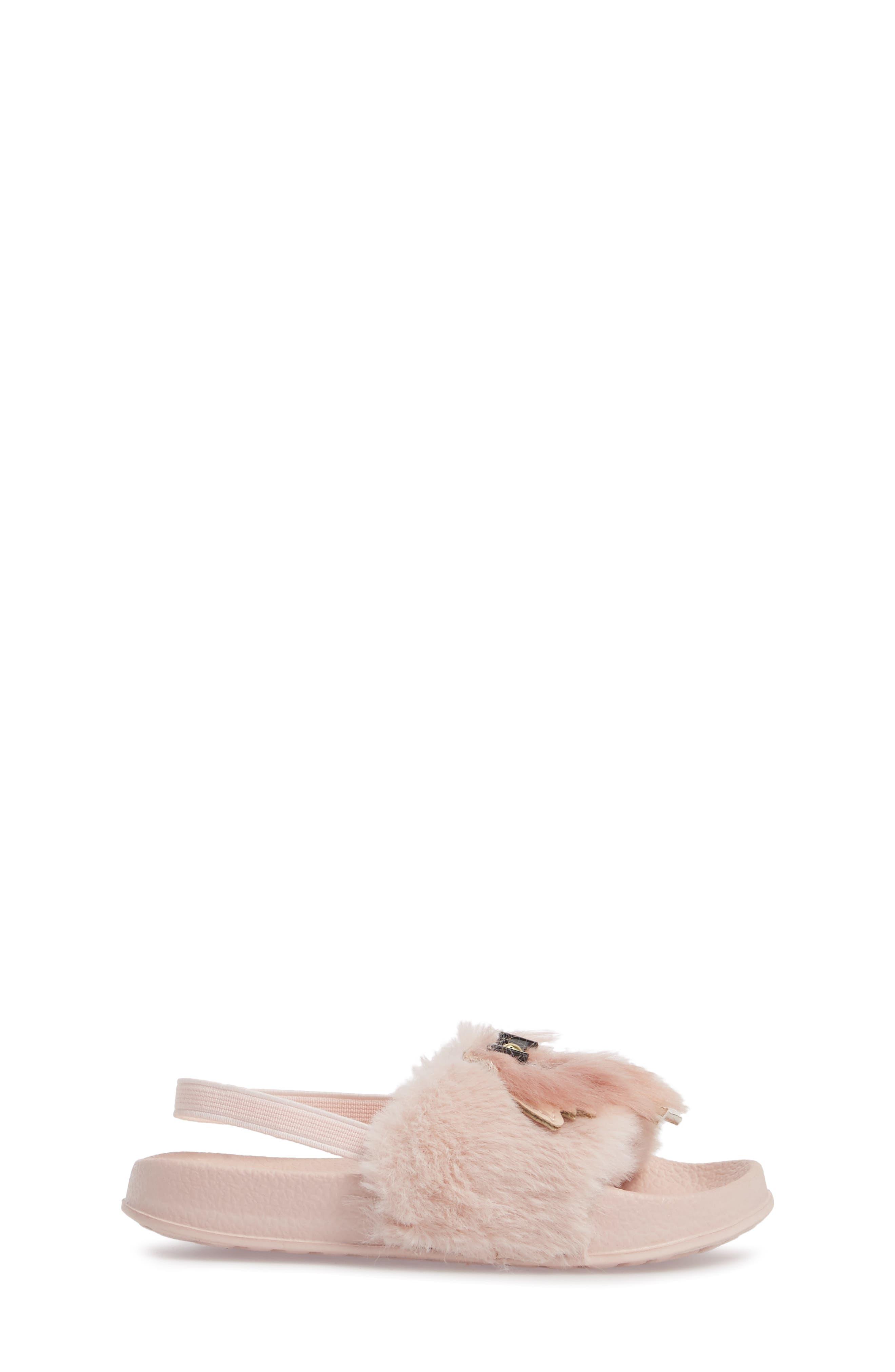 Mackie Faux Fur Sandal,                             Alternate thumbnail 3, color,                             654