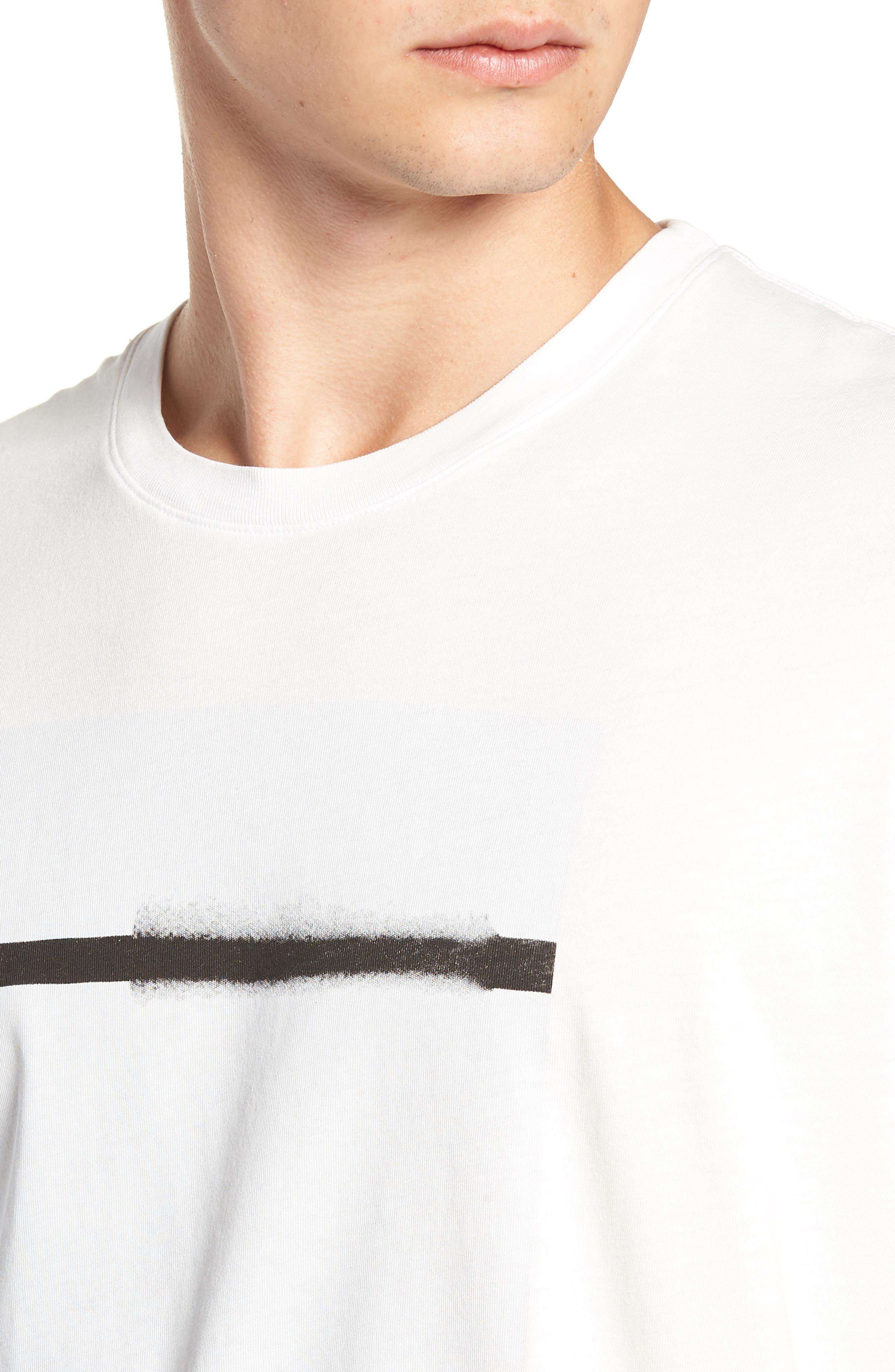 Off White Graphic T-Shirt,                             Alternate thumbnail 4, color,                             WHITE