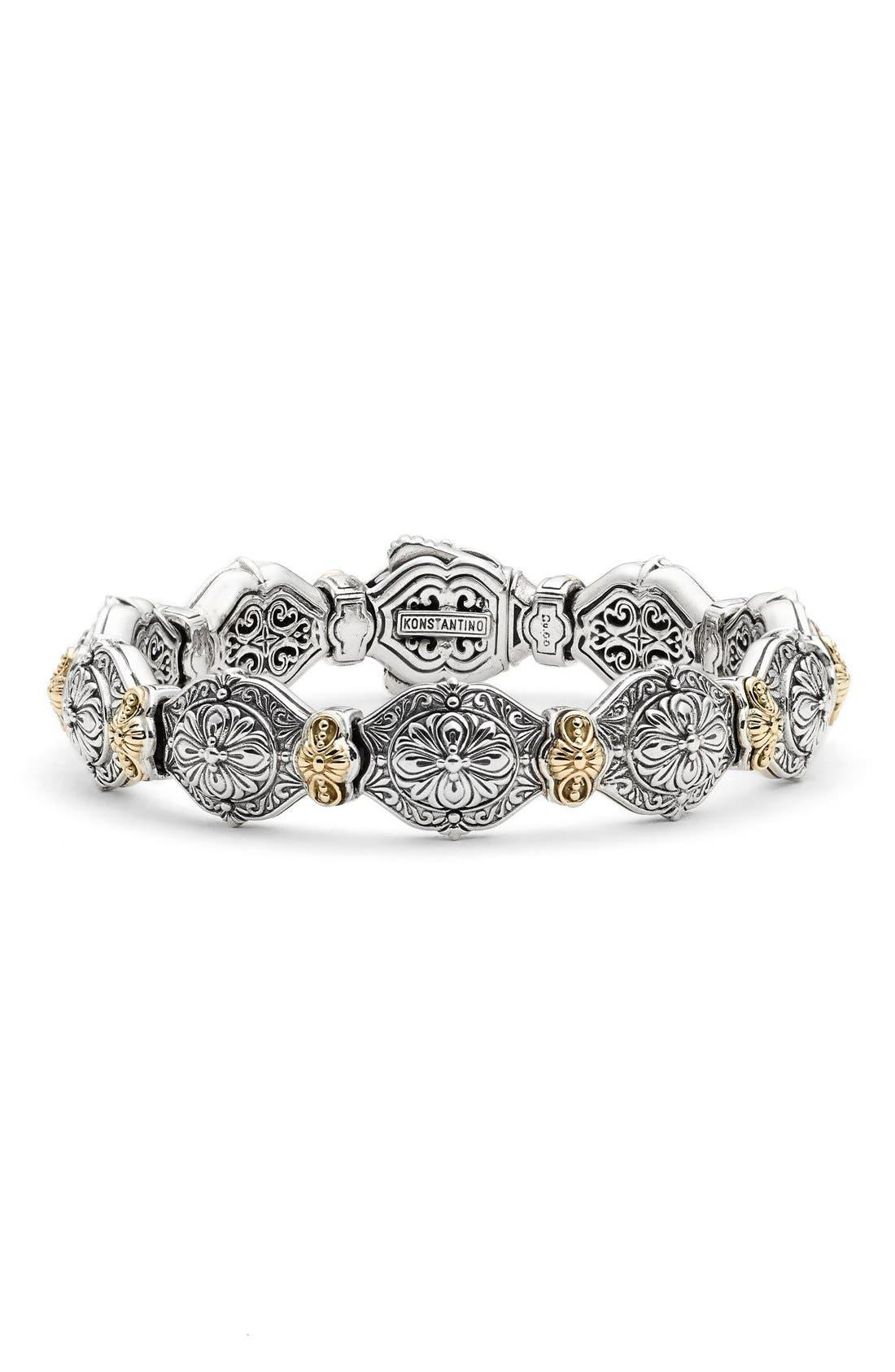 'Silver & Gold Classics' Link Bracelet,                             Main thumbnail 1, color,                             SILVER/ GOLD