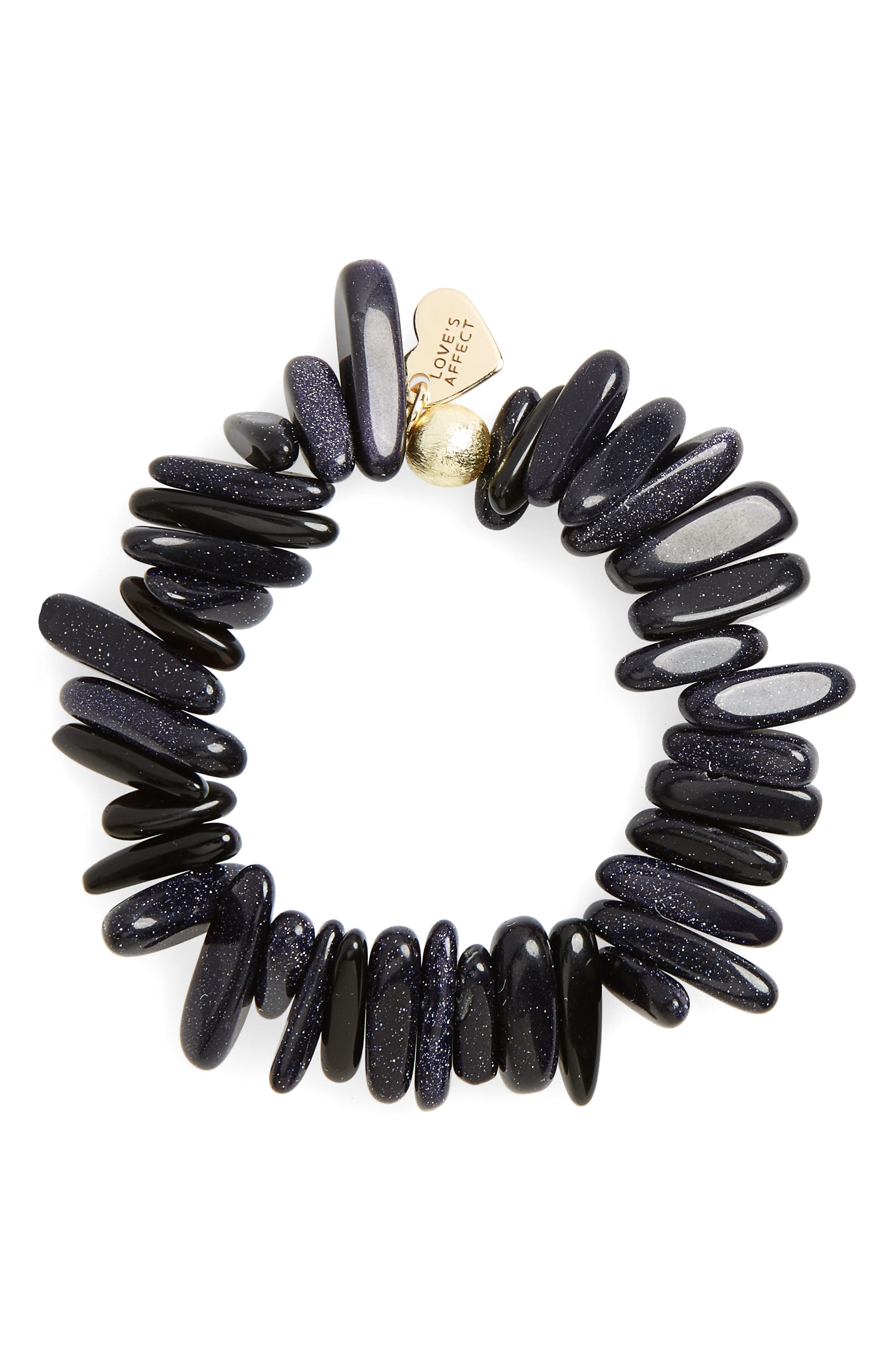 Love's Affect Jenna Semiprecious Stone Stretch Bracelet,                             Main thumbnail 3, color,