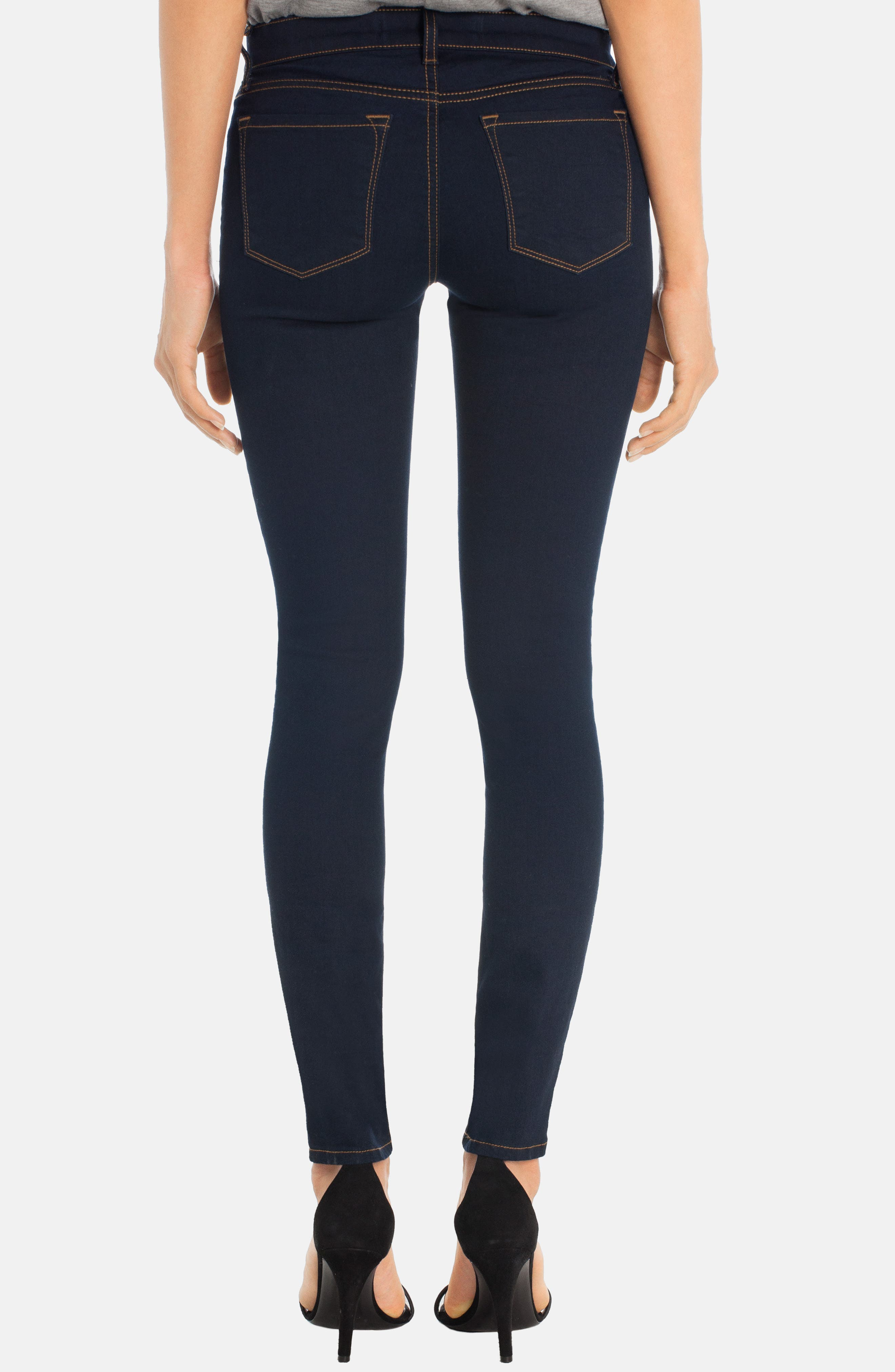 '811' Ankle Skinny Jeans,                             Alternate thumbnail 3, color,                             460