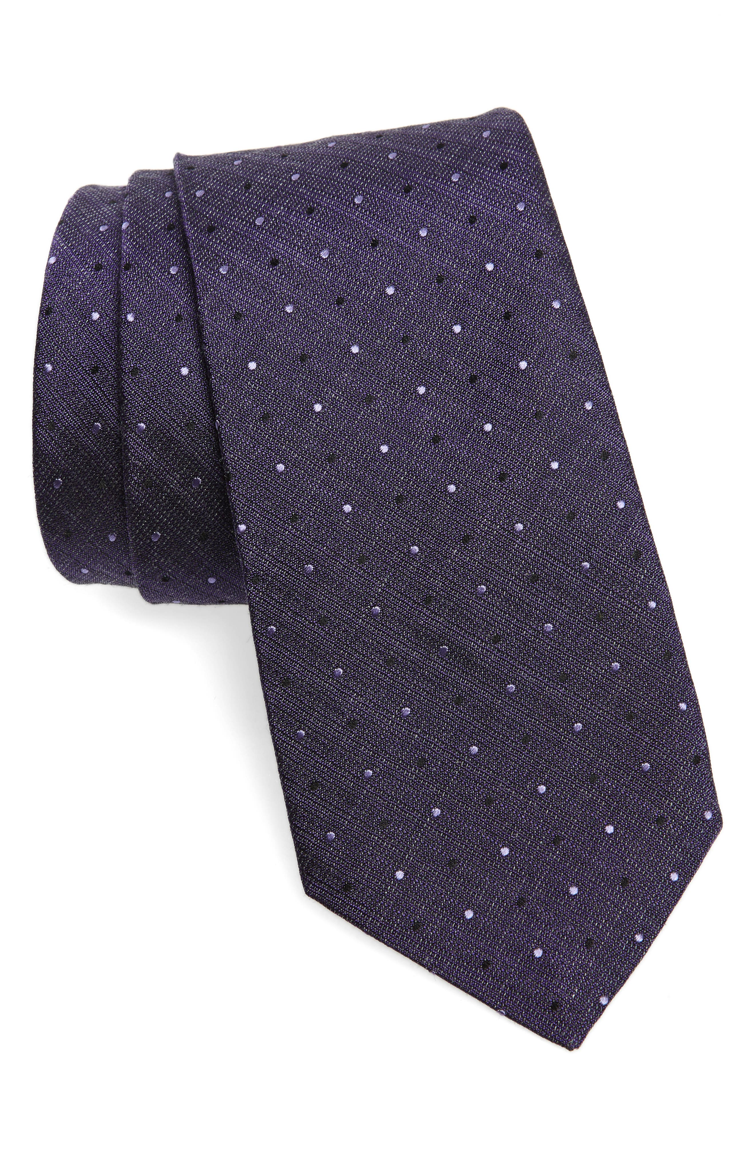 Dot Tie,                         Main,                         color, PURPLE