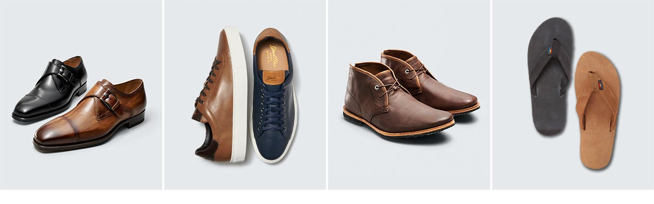 Men's sneakers, dress shoes and more.