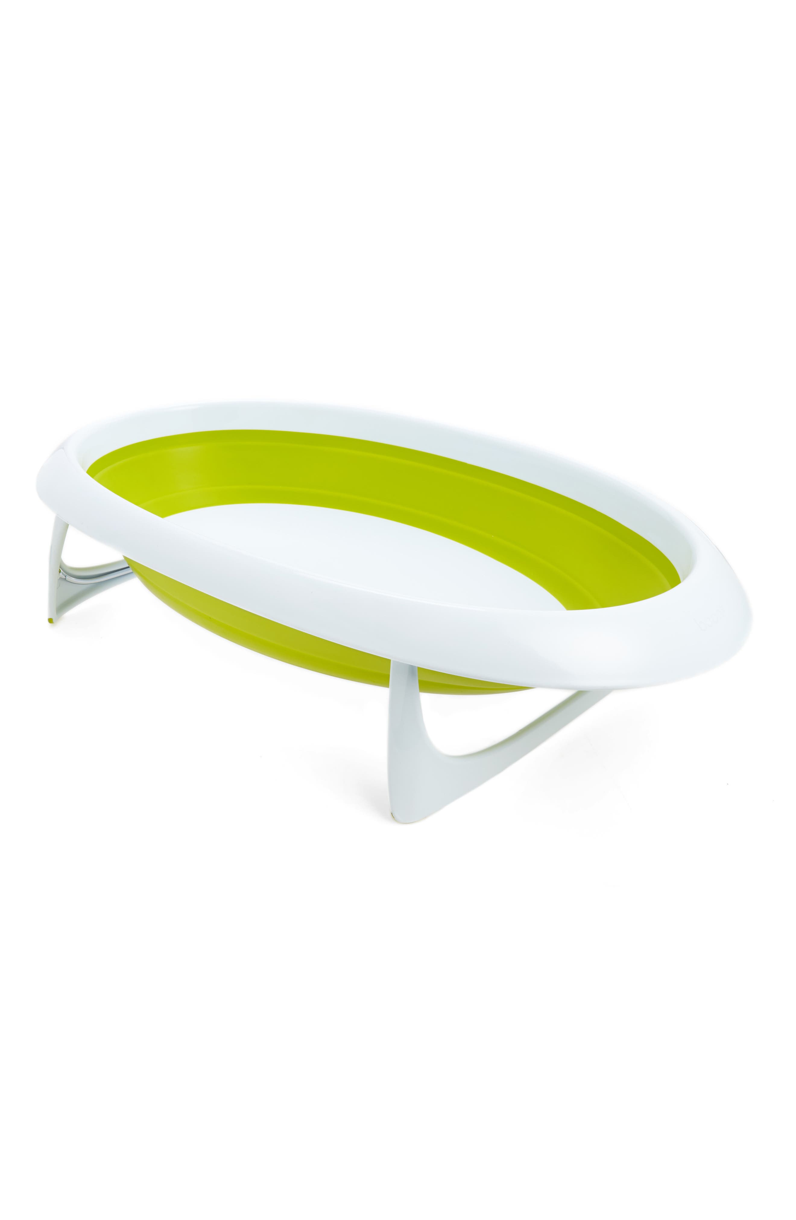 'Naked' Collapsible Bathtub,                         Main,                         color, GREEN AND WHITE