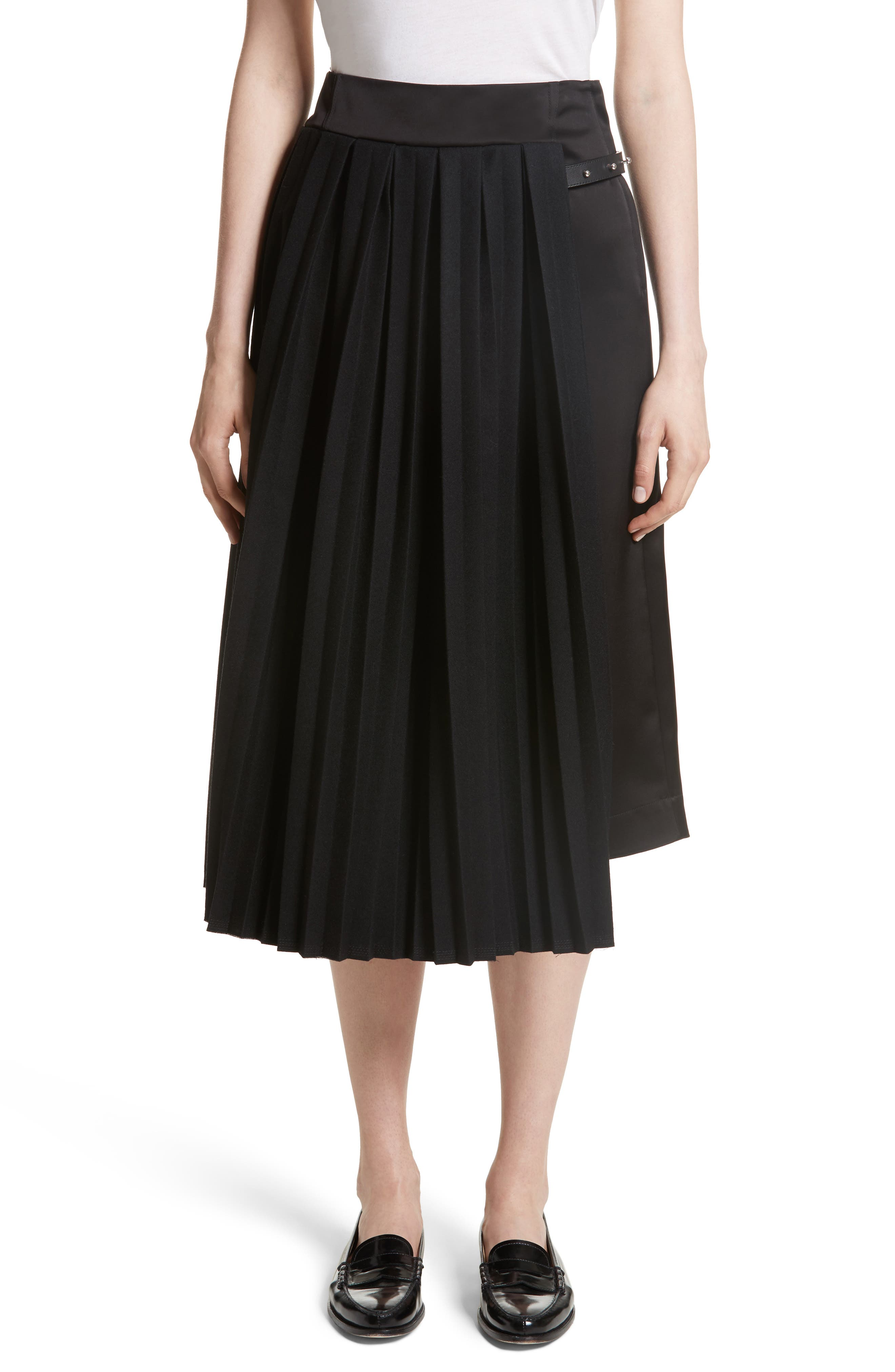 Pleated Panel Skirt,                         Main,                         color, 001