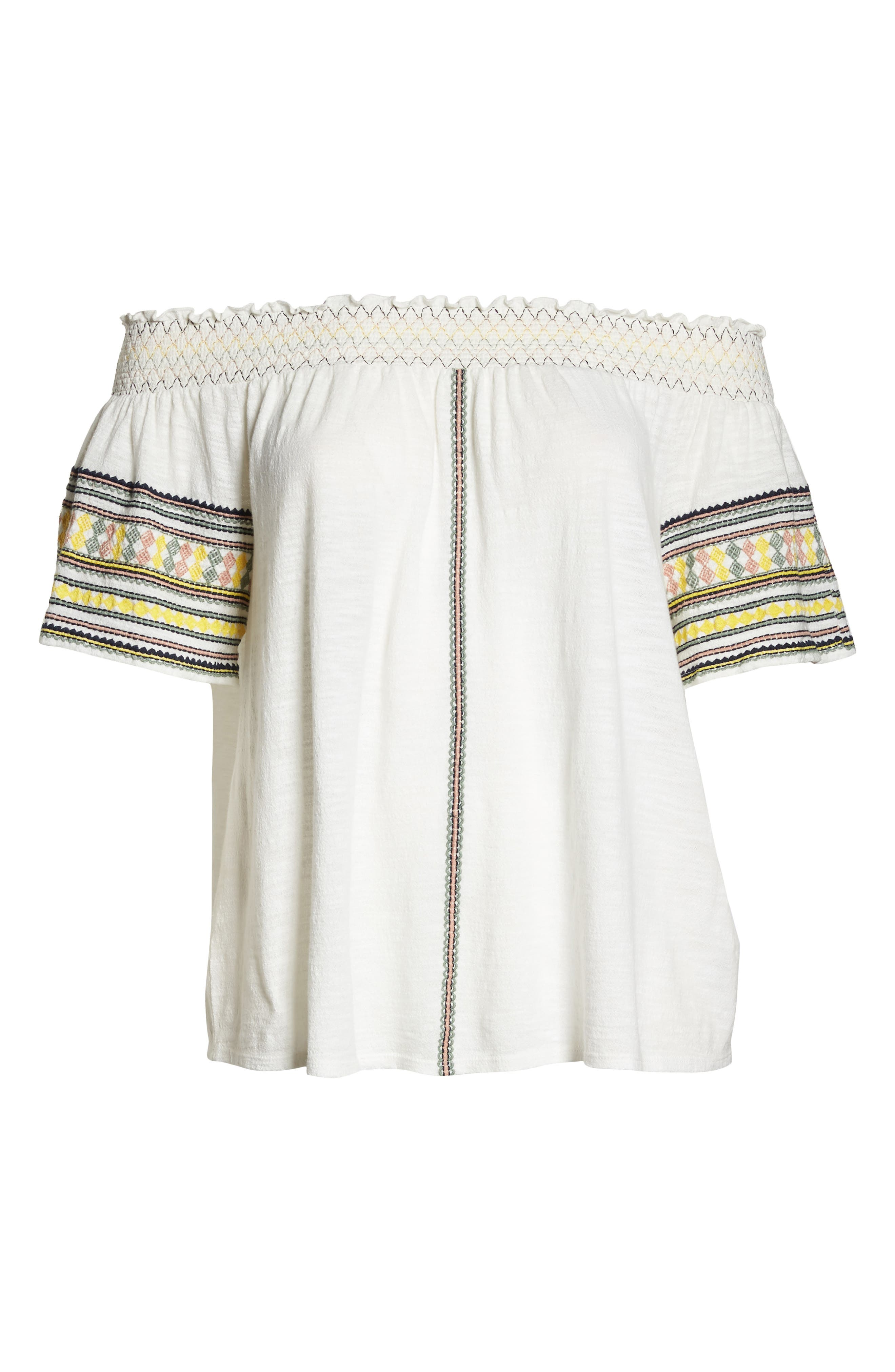 Embroidered Off the Shoulder Top,                             Alternate thumbnail 7, color,                             900