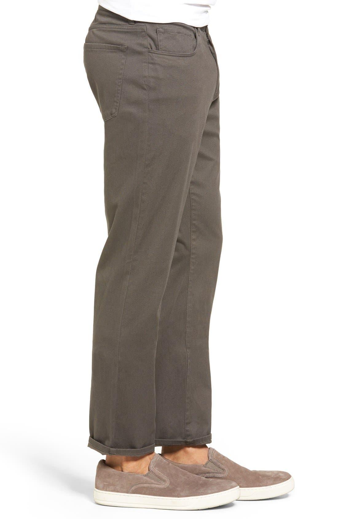 Soho Slim Fit Five-Pocket Pants,                             Alternate thumbnail 8, color,                             GREY