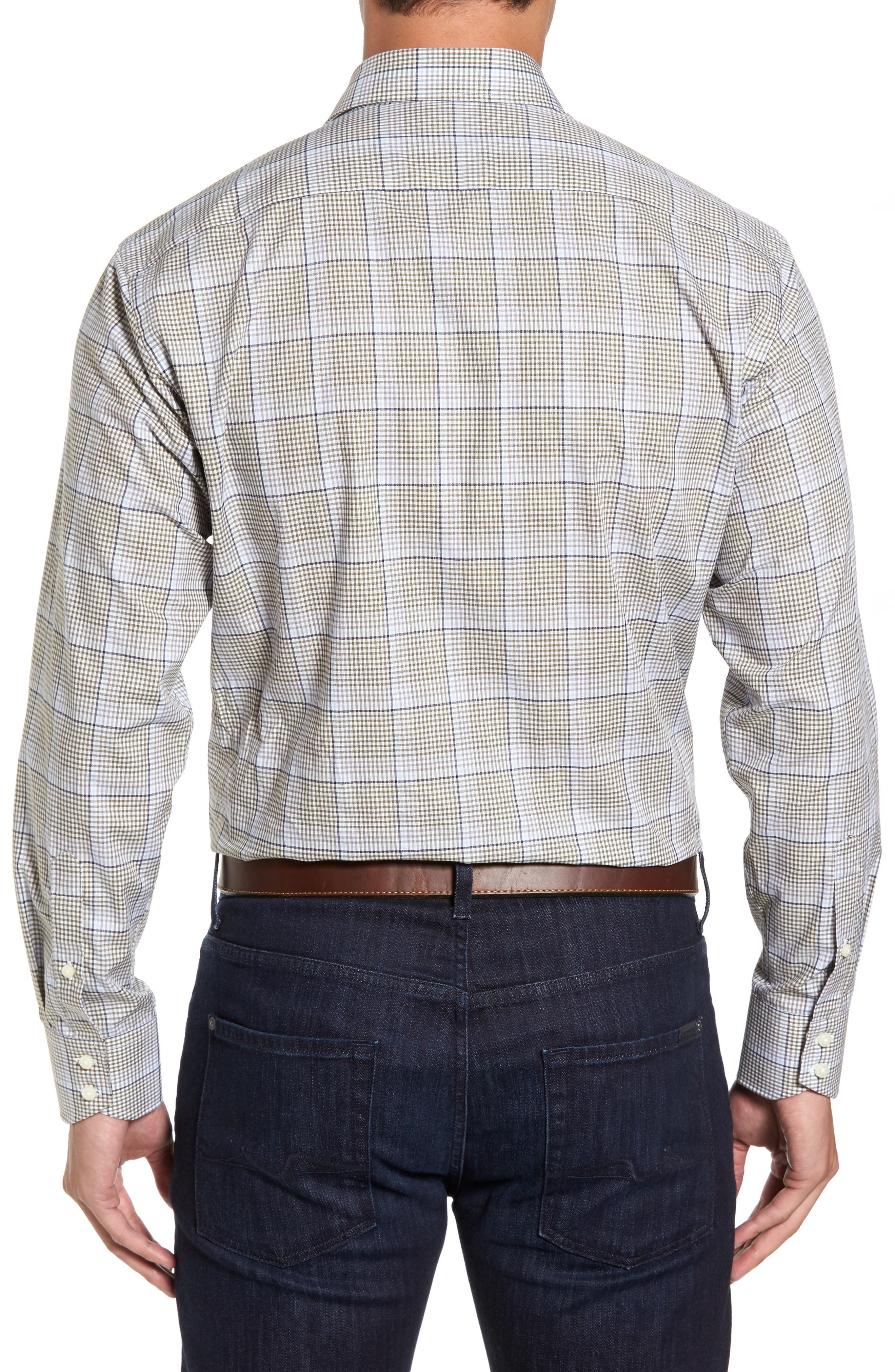 Diamond Regular Fit Dobby Check Sport Shirt,                             Alternate thumbnail 2, color,                             300