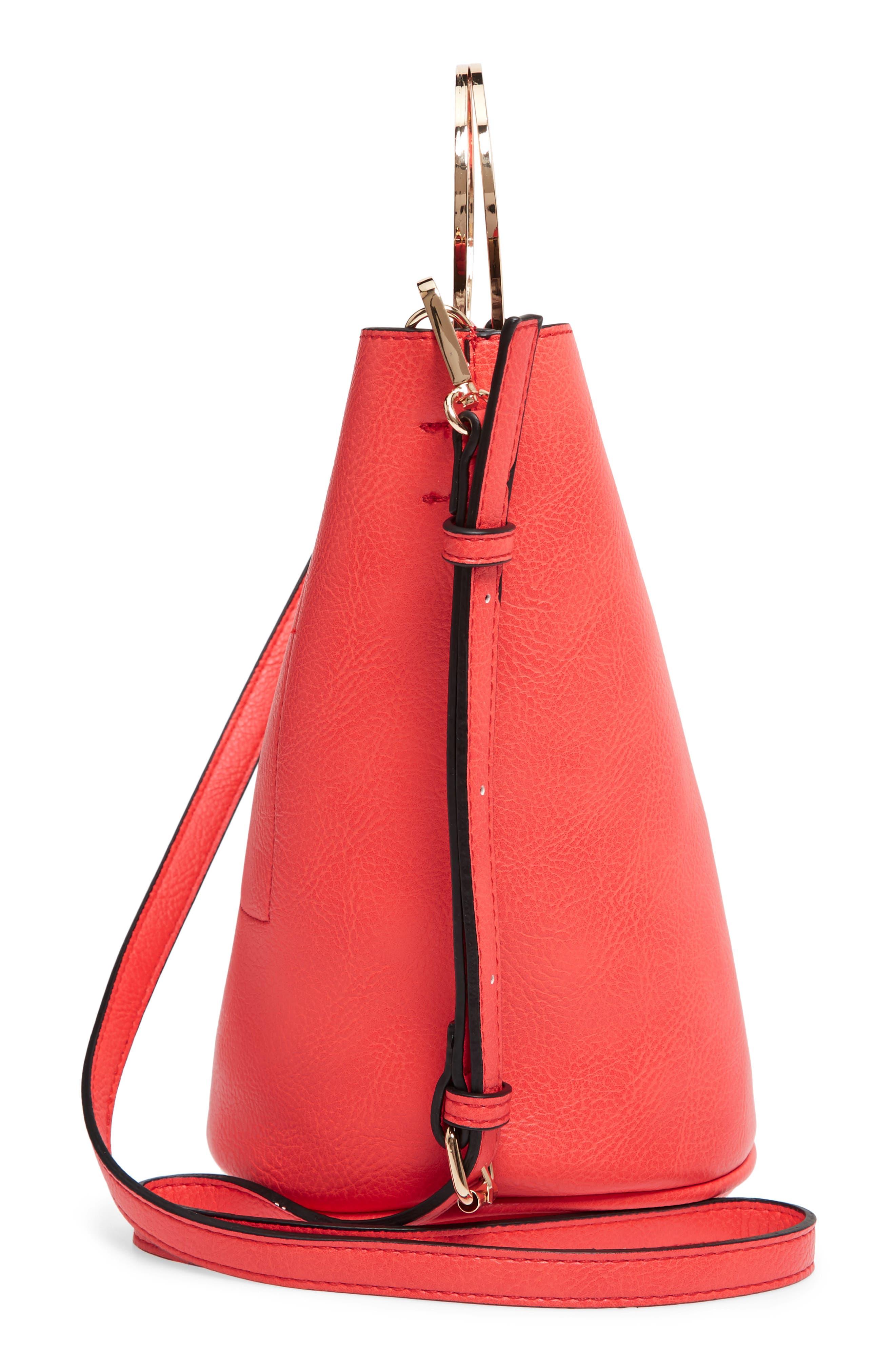 Mali + Lili Ilia Vegan Leather Ring Handle Bucket Bag,                             Alternate thumbnail 15, color,