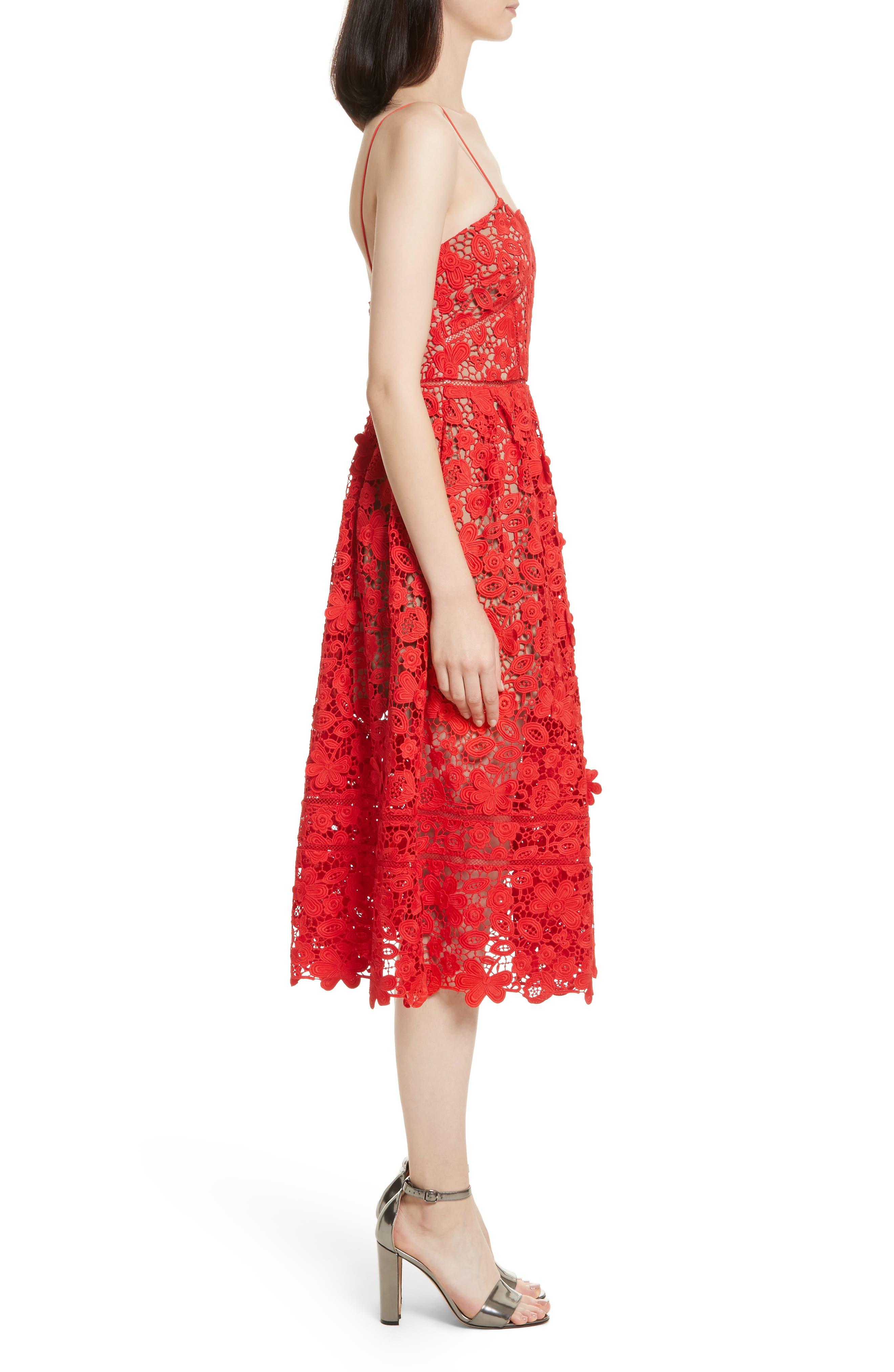 Azaelea 3D Lace Fit & Flare Dress,                             Alternate thumbnail 9, color,