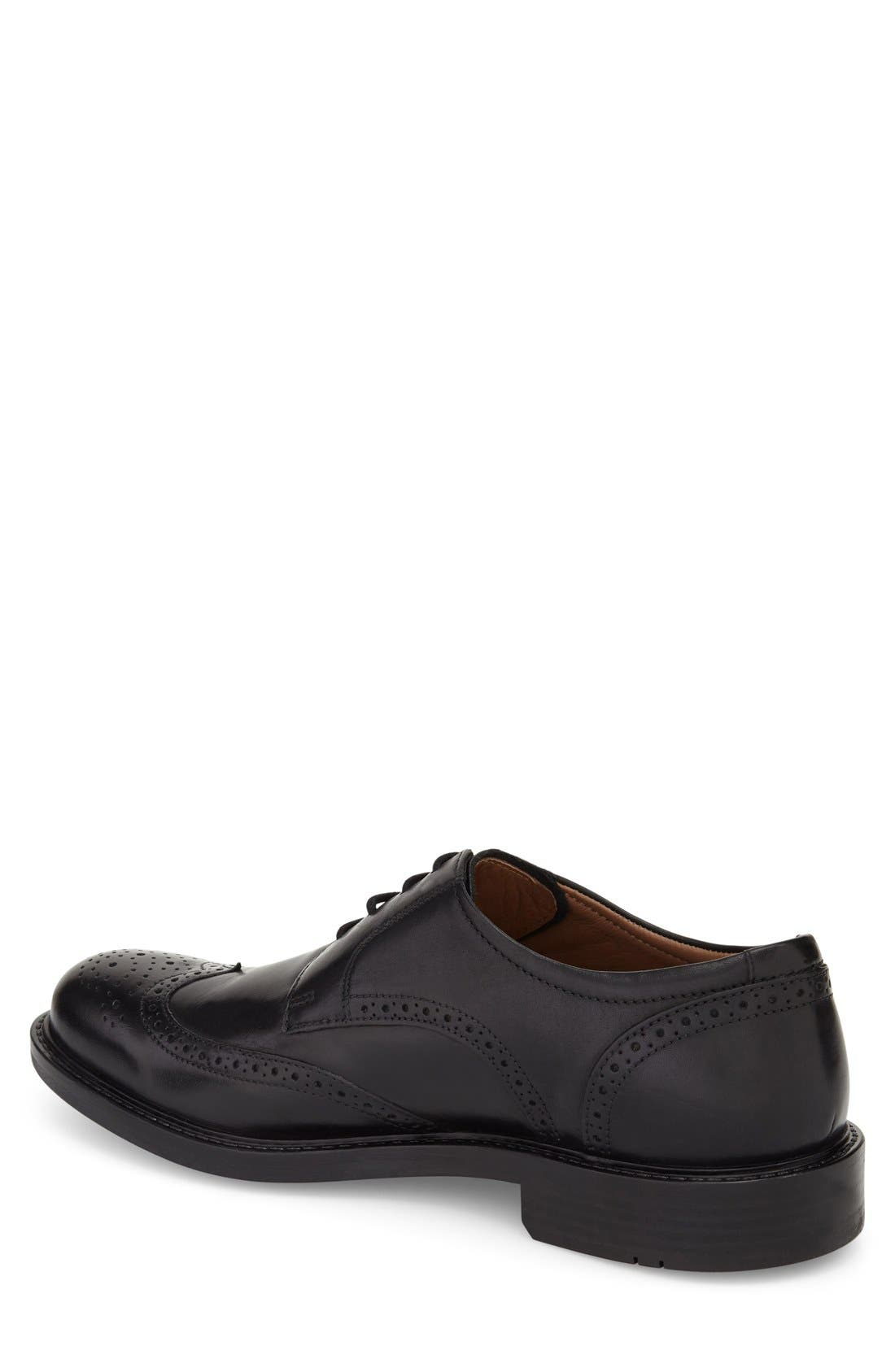 Tabor Wingtip,                             Alternate thumbnail 2, color,                             BLACK LEATHER