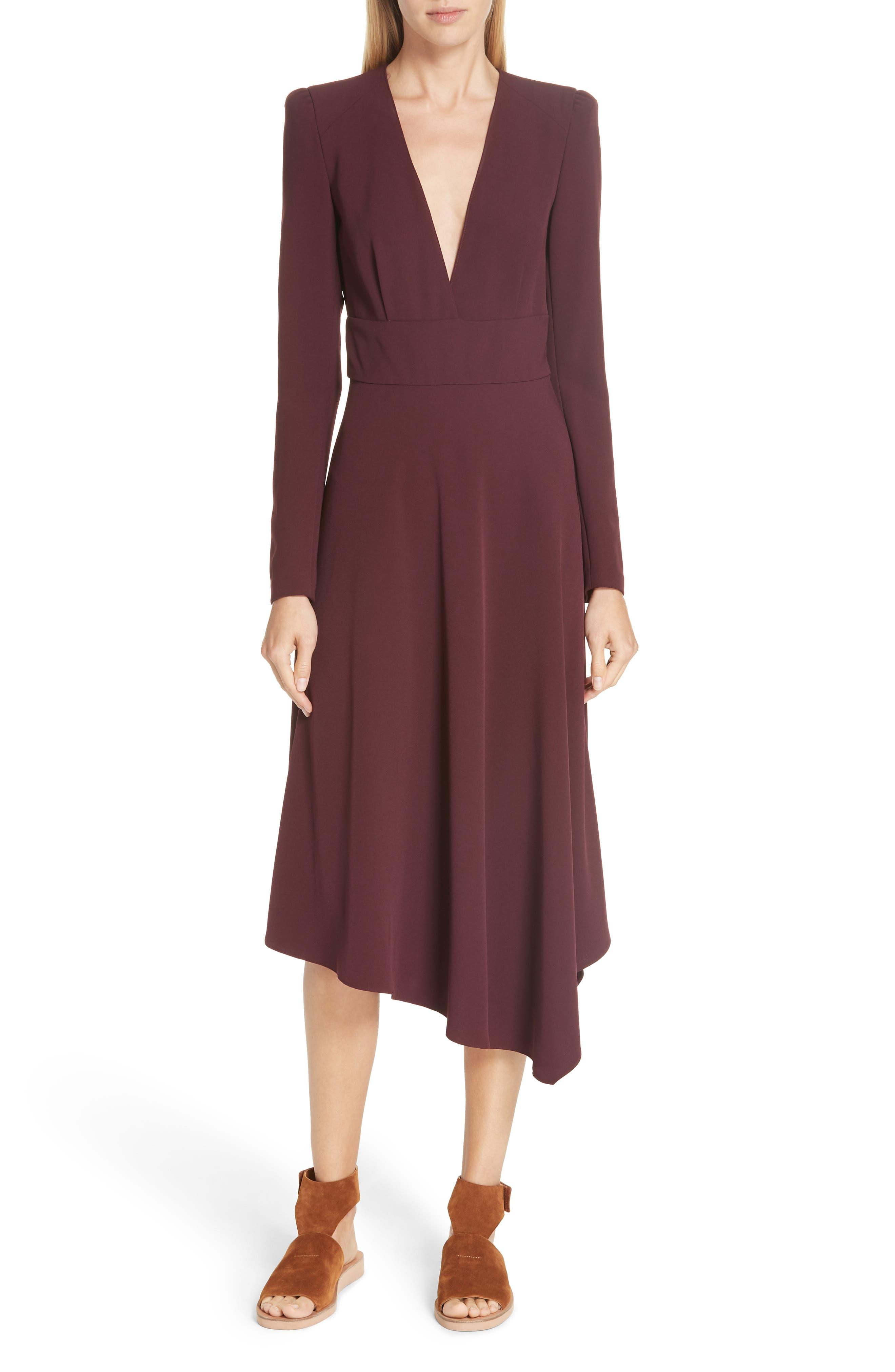 A.l.c. Loyola Asymmetrical Midi Dress