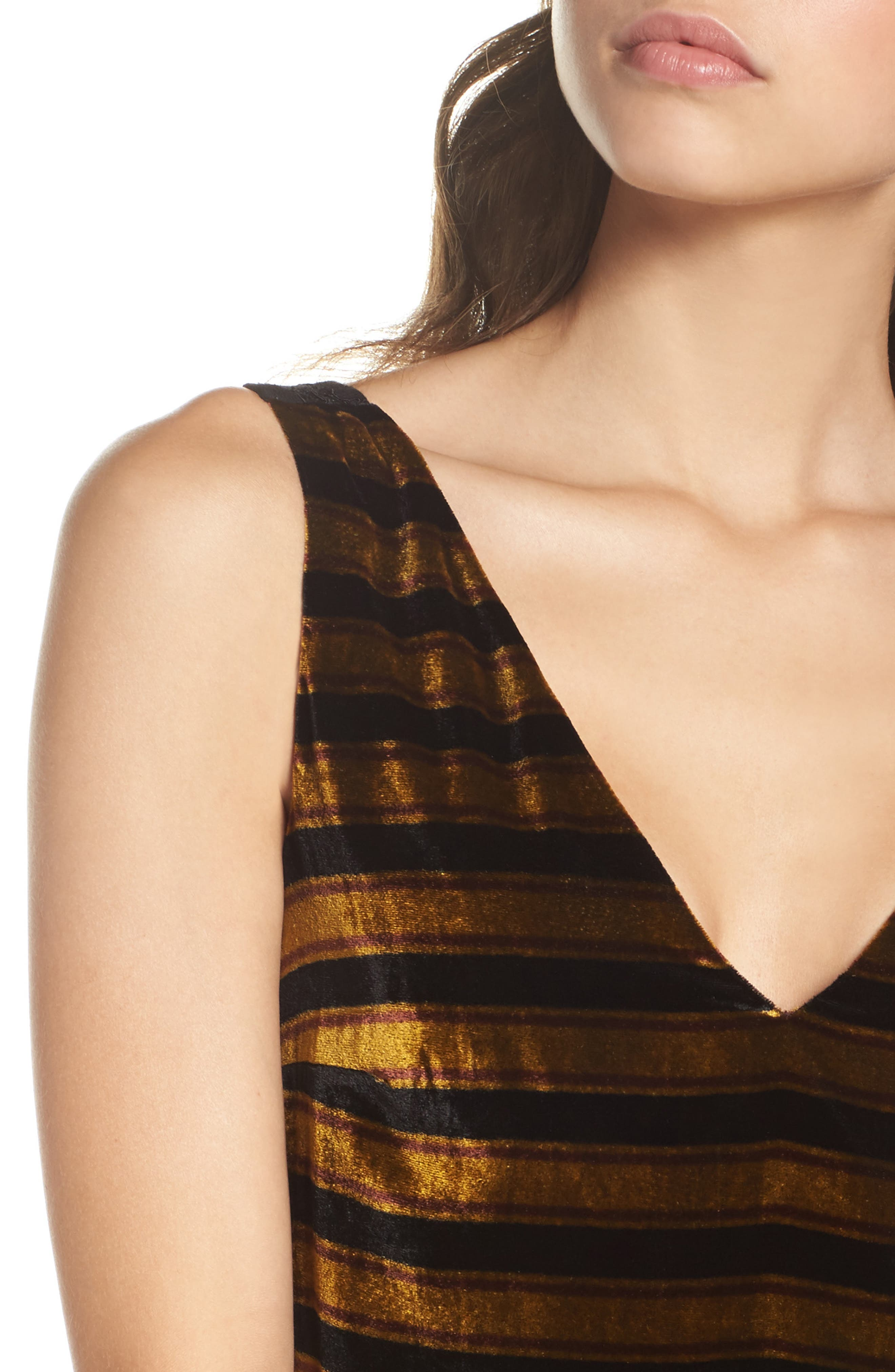 Emma Stripe Dress,                             Alternate thumbnail 4, color,                             015