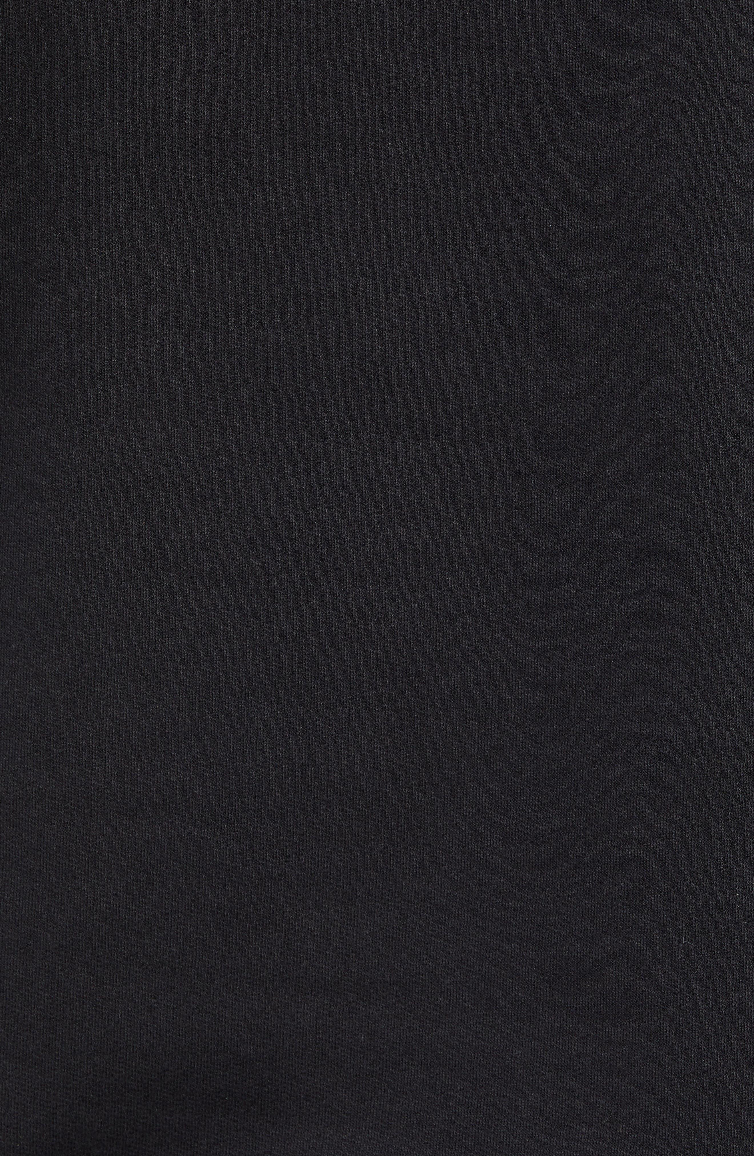 Logo Hoodie Sweatshirt,                             Alternate thumbnail 5, color,                             BLACK