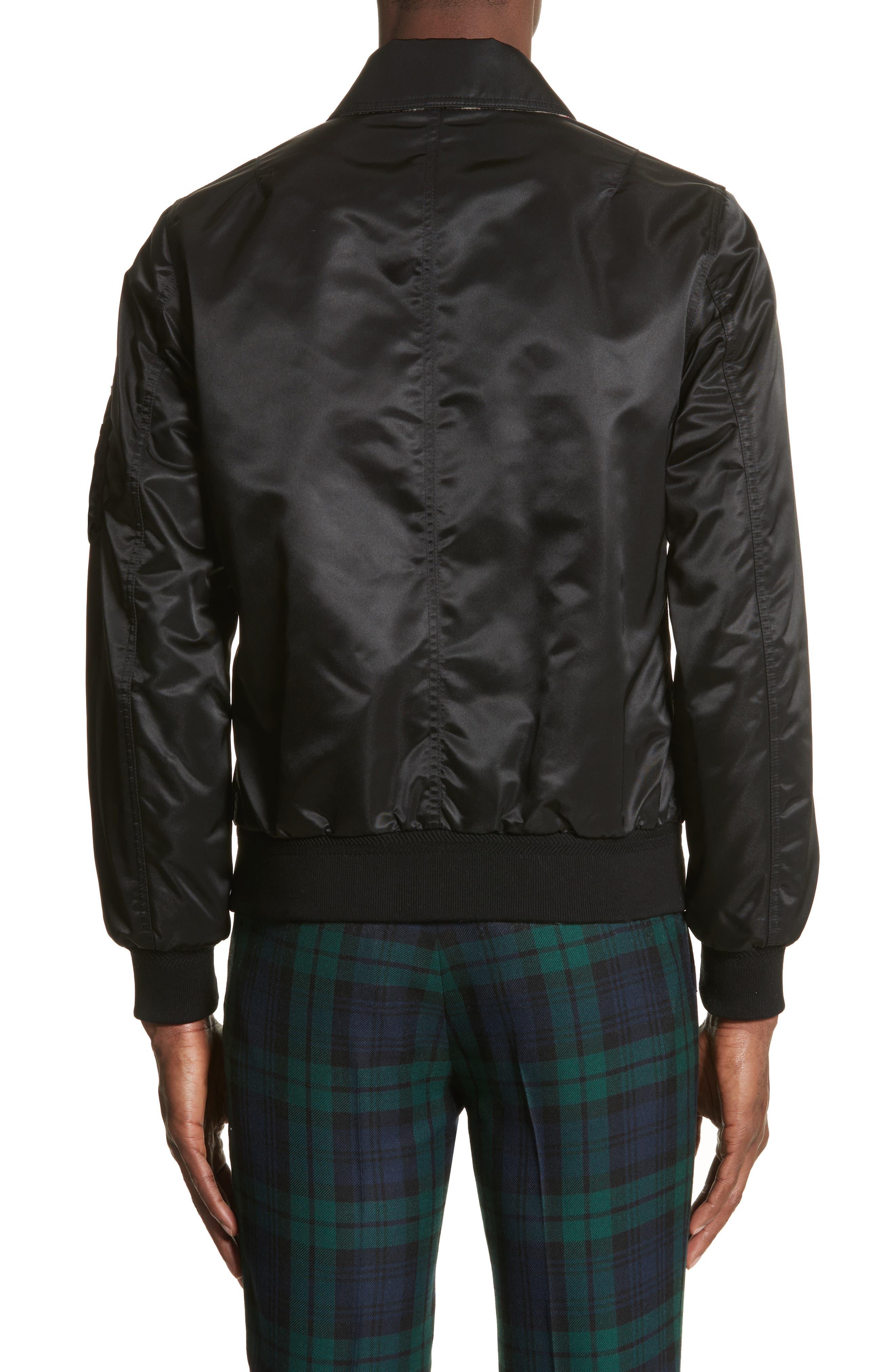 Pipley Spread Collar Bomber Jacket,                             Alternate thumbnail 2, color,                             001