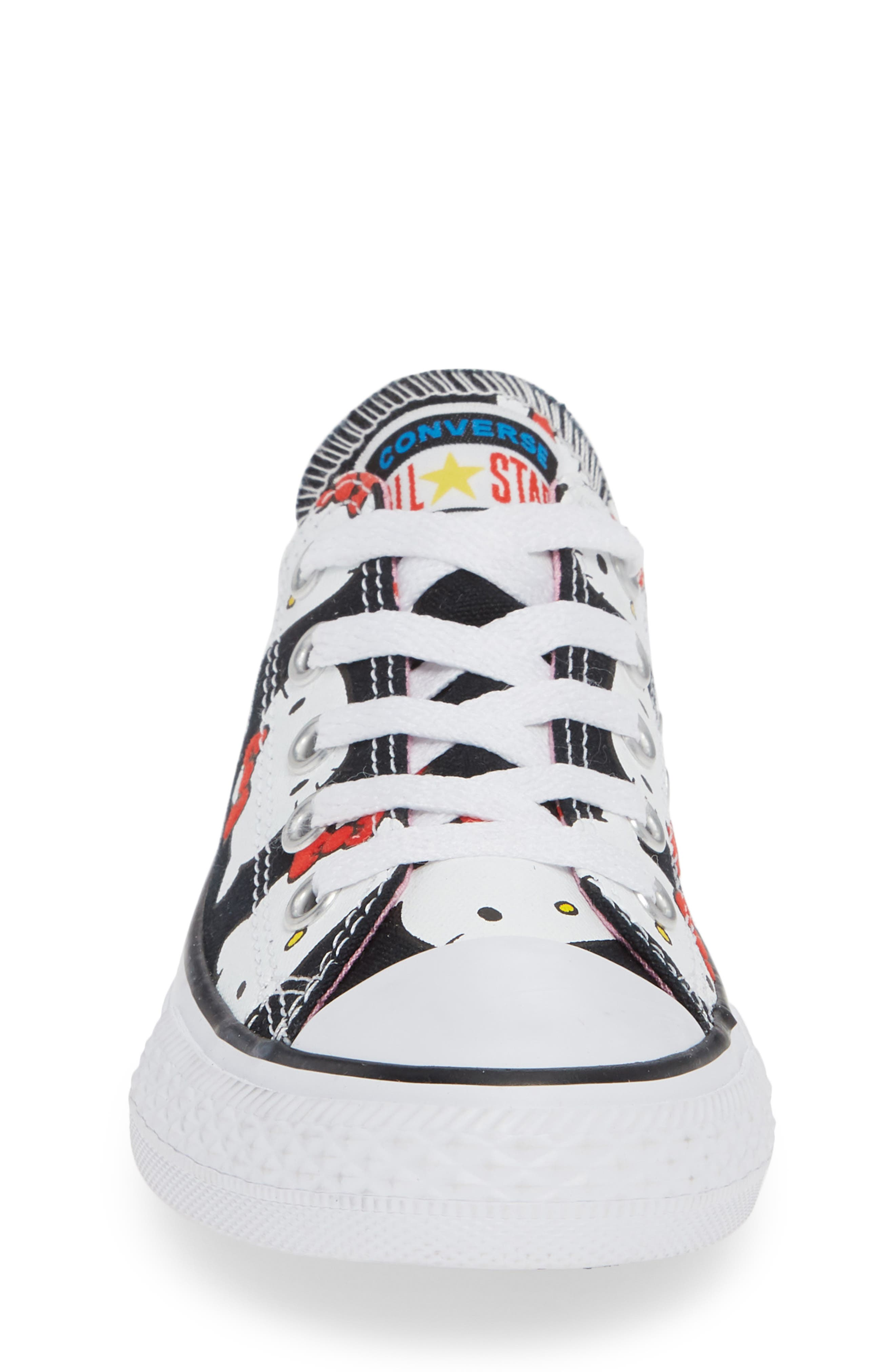 Chuck Taylor<sup>®</sup> All Star<sup>®</sup> Hello Kitty<sup>®</sup> Sneaker,                             Alternate thumbnail 4, color,                             BLACK