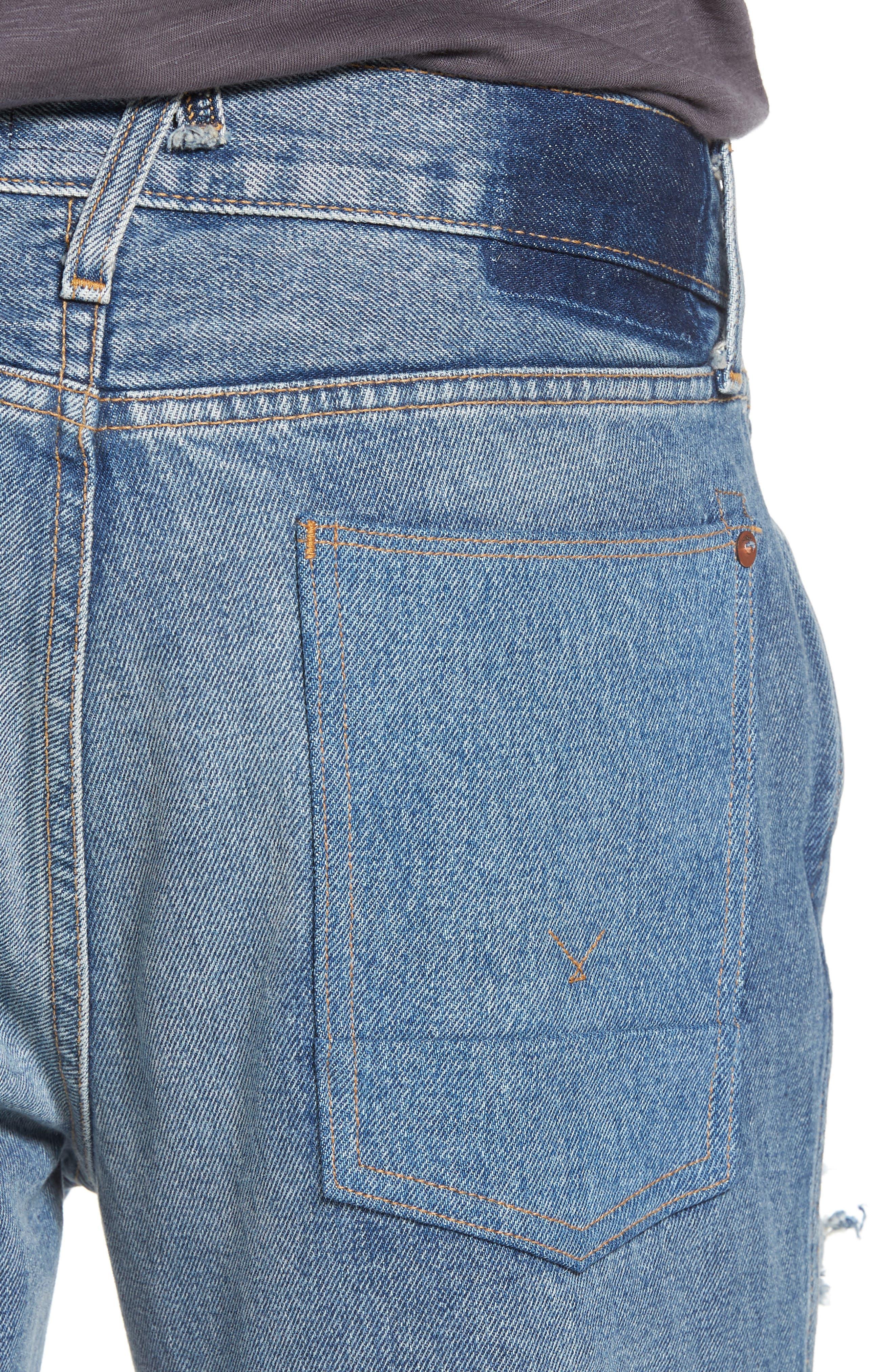 Dixon Straight Leg Jeans,                             Alternate thumbnail 4, color,                             IRON HEAD