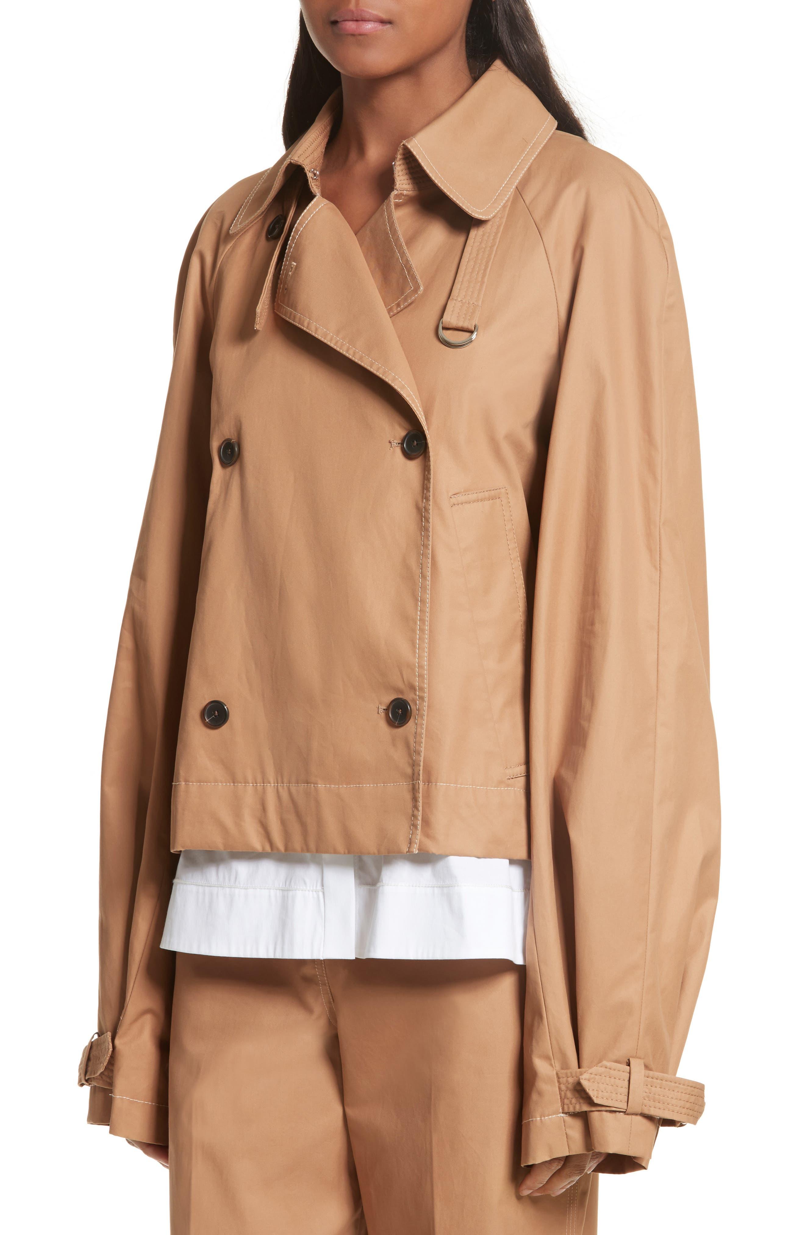 Eleta Short Trench Coat,                             Alternate thumbnail 4, color,                             206