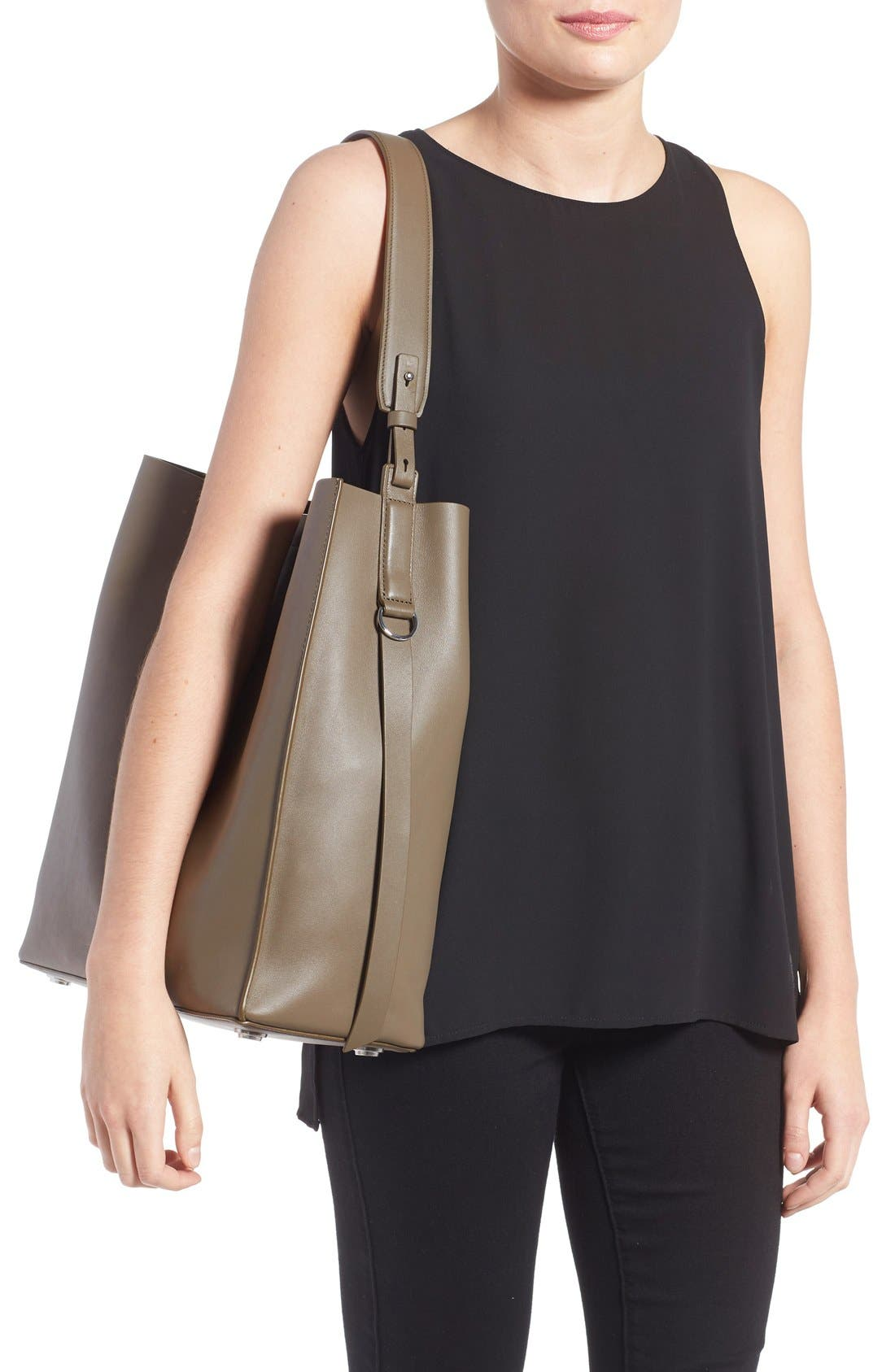 'Paradise North/South' Calfskin Leather Tote,                             Alternate thumbnail 14, color,
