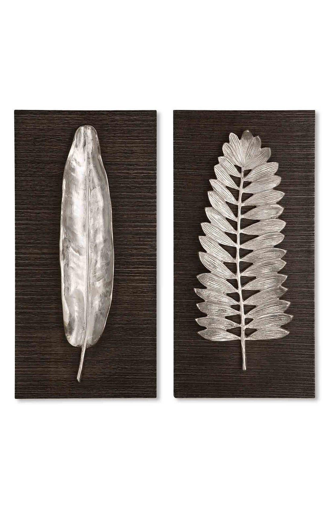 'Silver Leaves' Wall Art,                             Main thumbnail 1, color,                             040