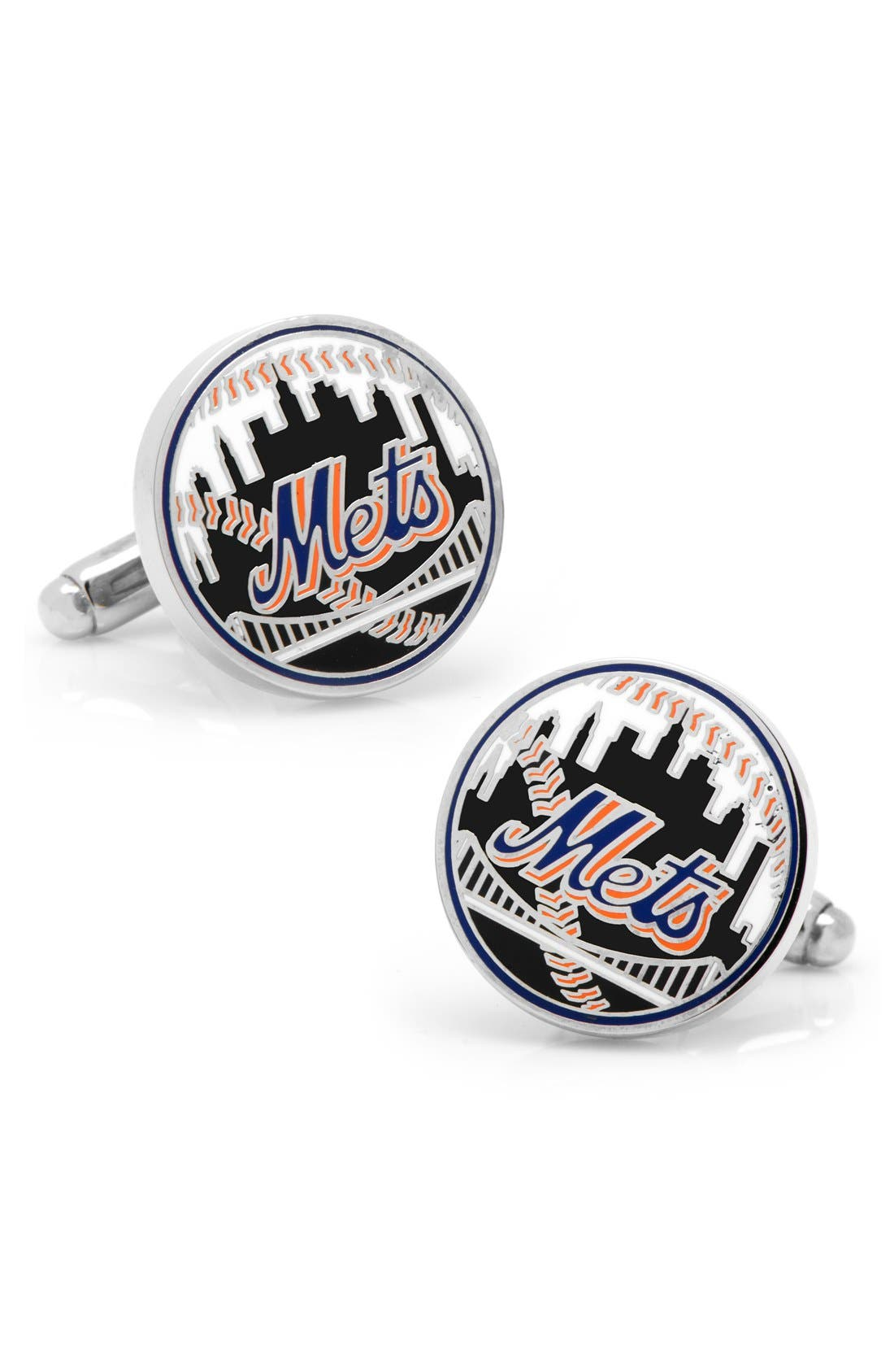 New York Mets Cuff Links,                             Main thumbnail 1, color,                             001