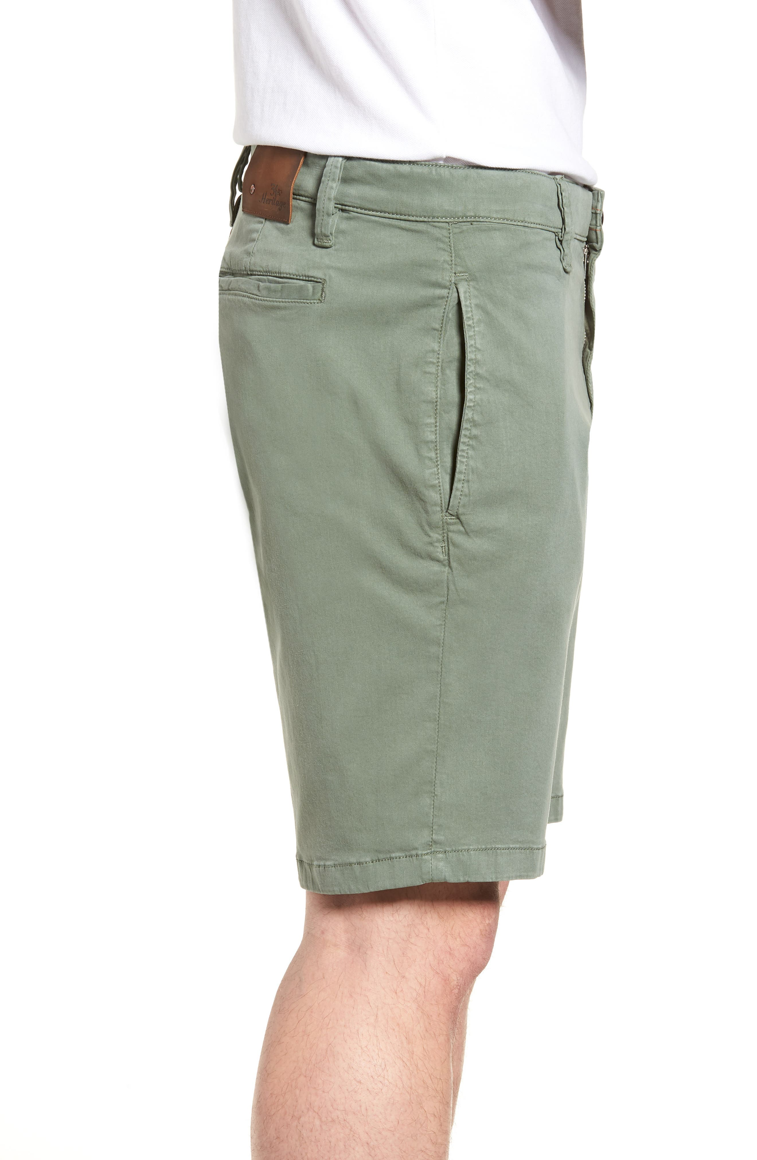 34 HERITAGE,                             Nevada Twill Shorts,                             Alternate thumbnail 3, color,                             MOSS TWILL